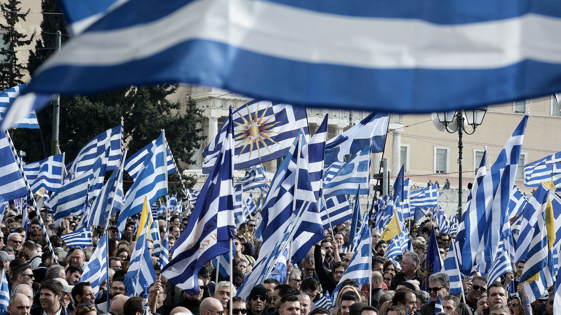 Greece's national flag.