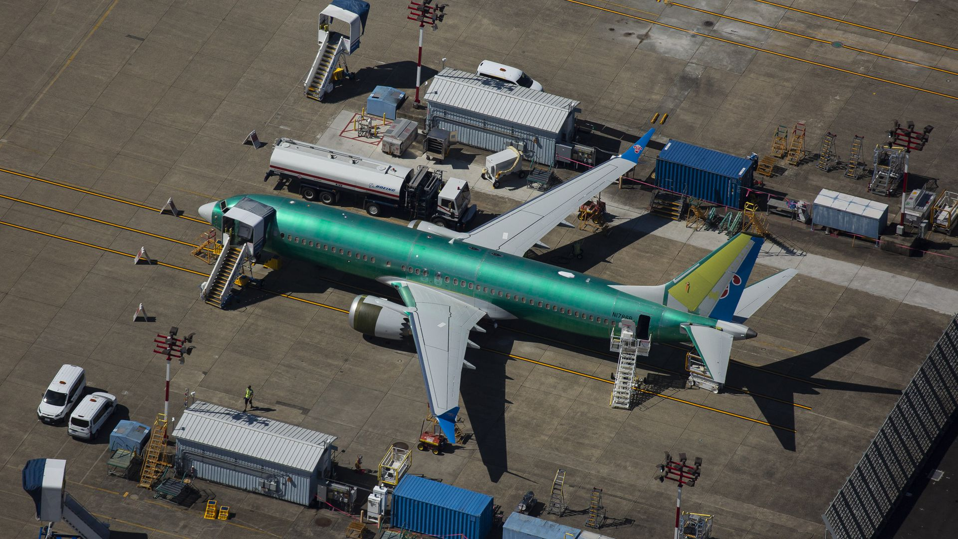 A grounded Boeing 737 MAX