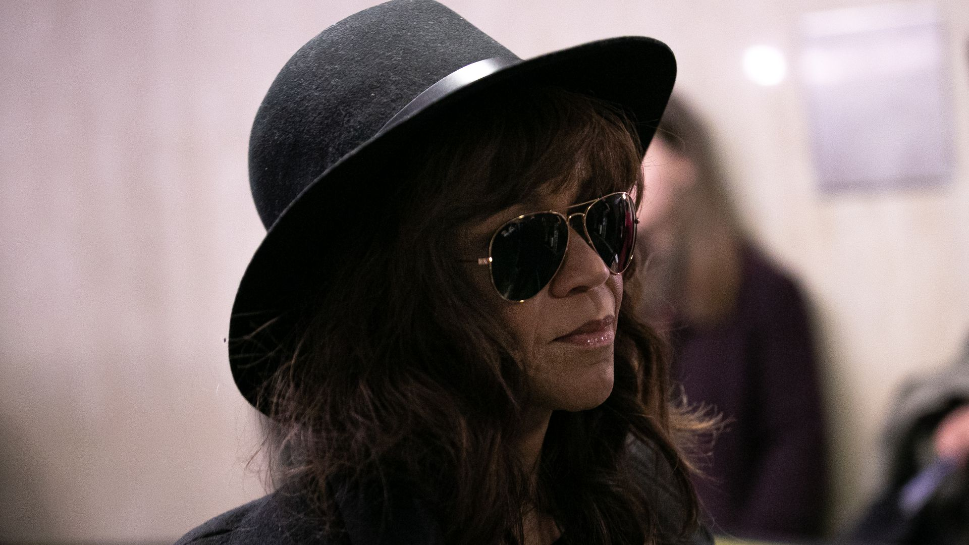 Rosie Perez arrives at New York City Criminal Court for the continuation of Harvey Weinstein's trial on January 24, 2020
