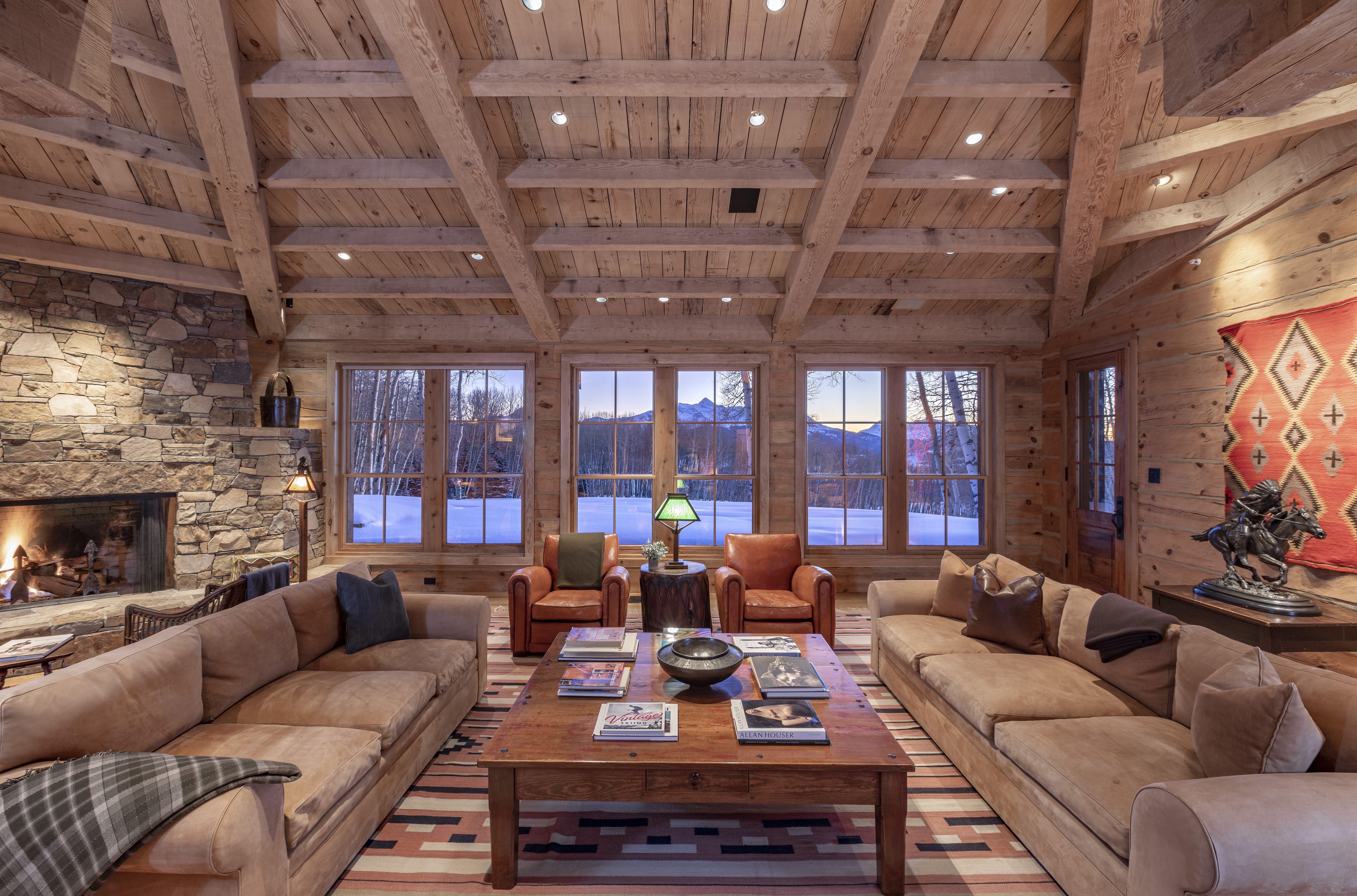 Tom Cruise's Telluride Ranch living room views
