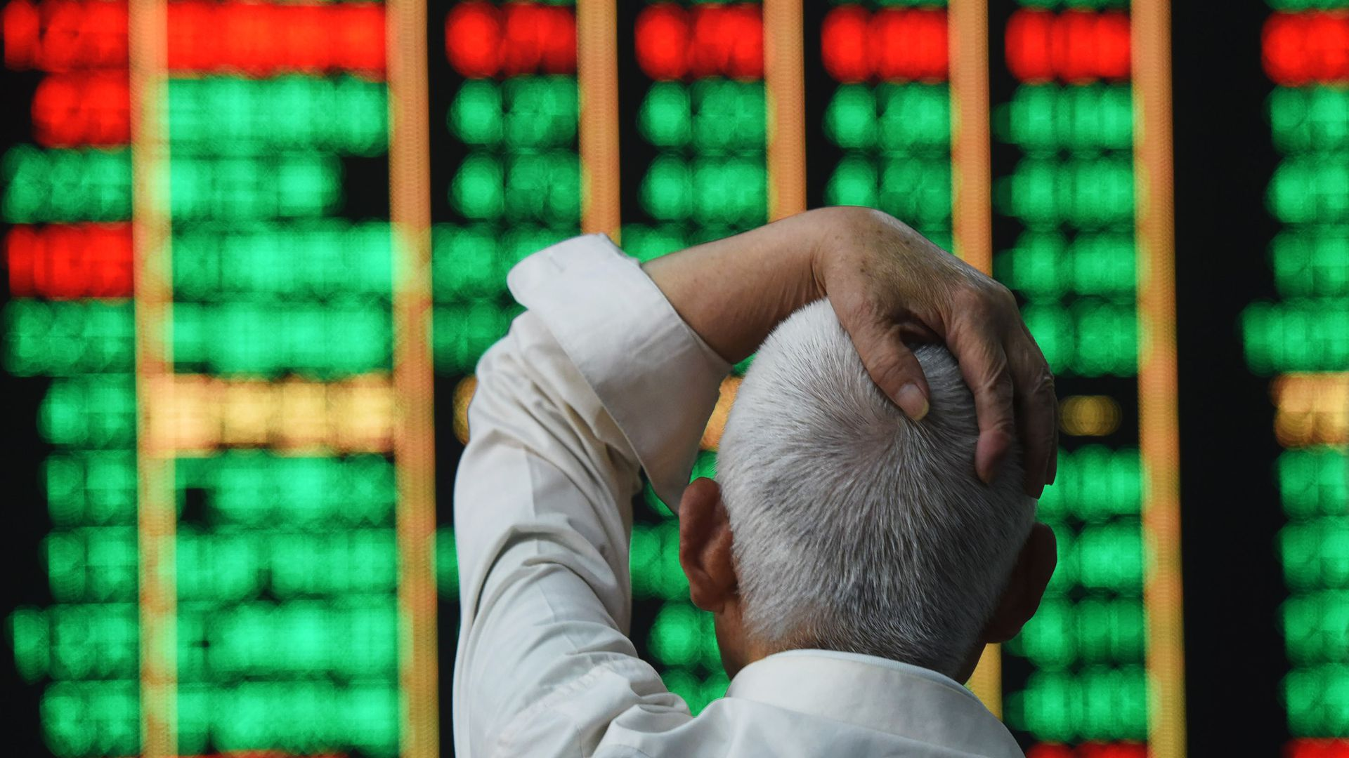 China's stock market dropping