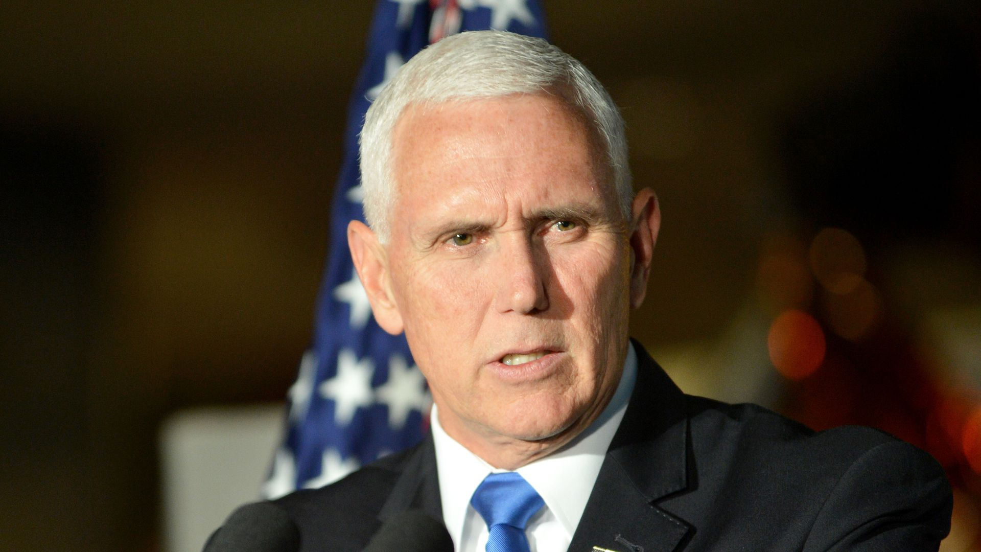 Pence Taylor University address: Dozens walk out in protest moments before speech