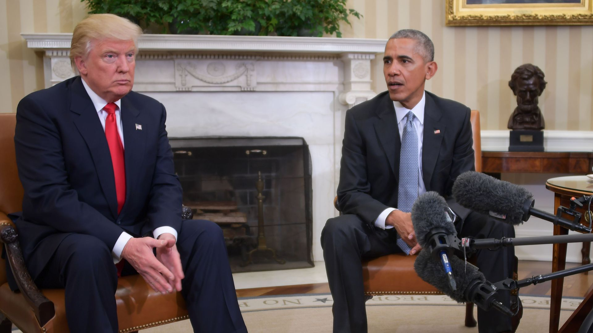 President Barack Obama meets with President-elect Donald Trump to update him on transition planning.