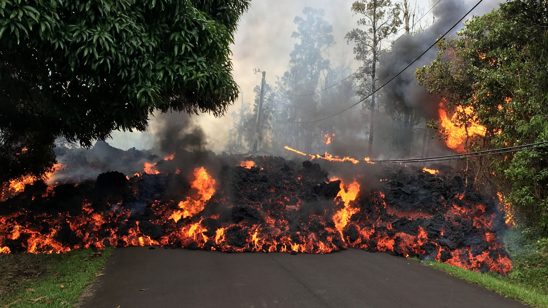 Lava on the street