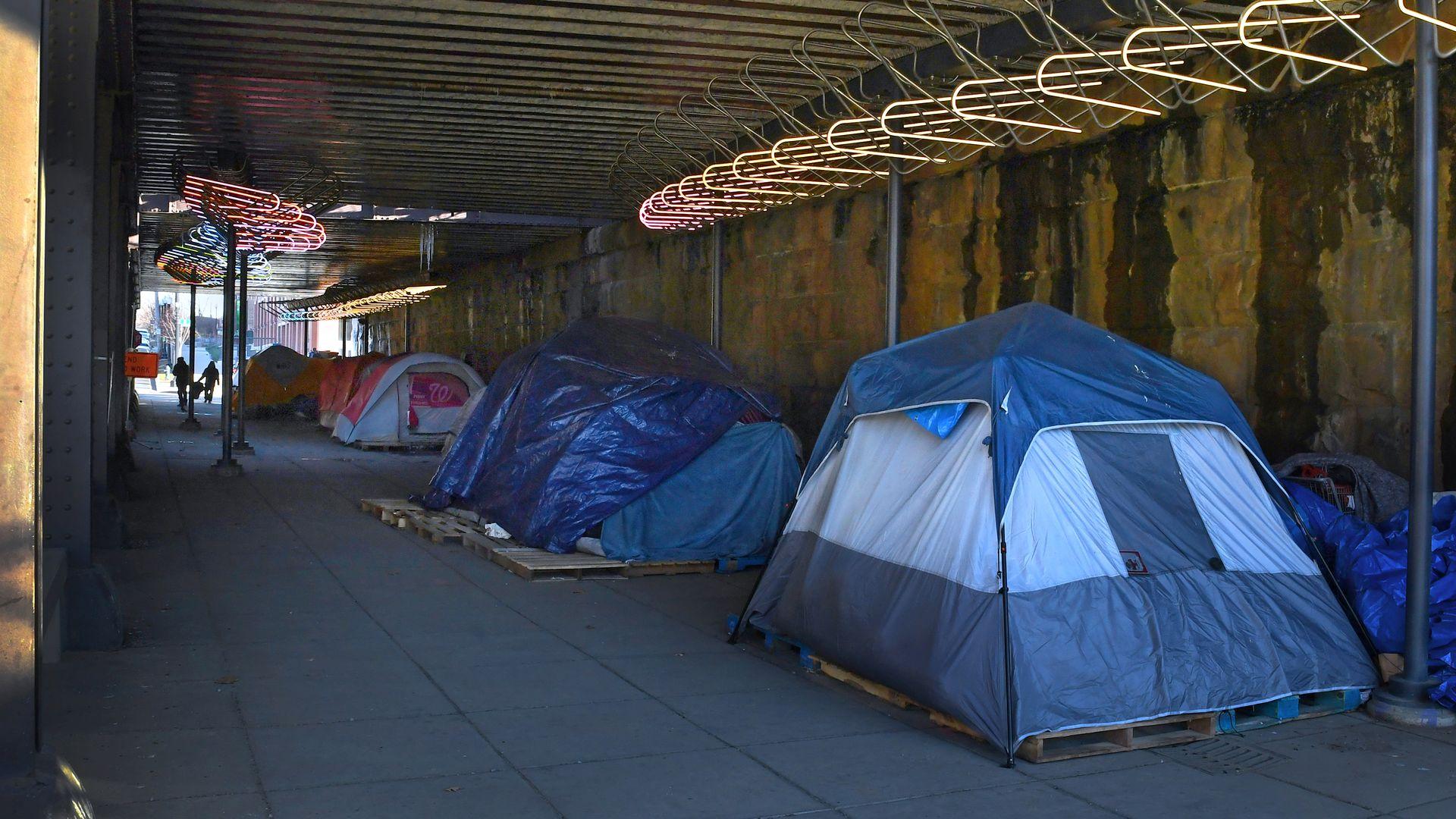 A homeless encampment in Washington, D.C.