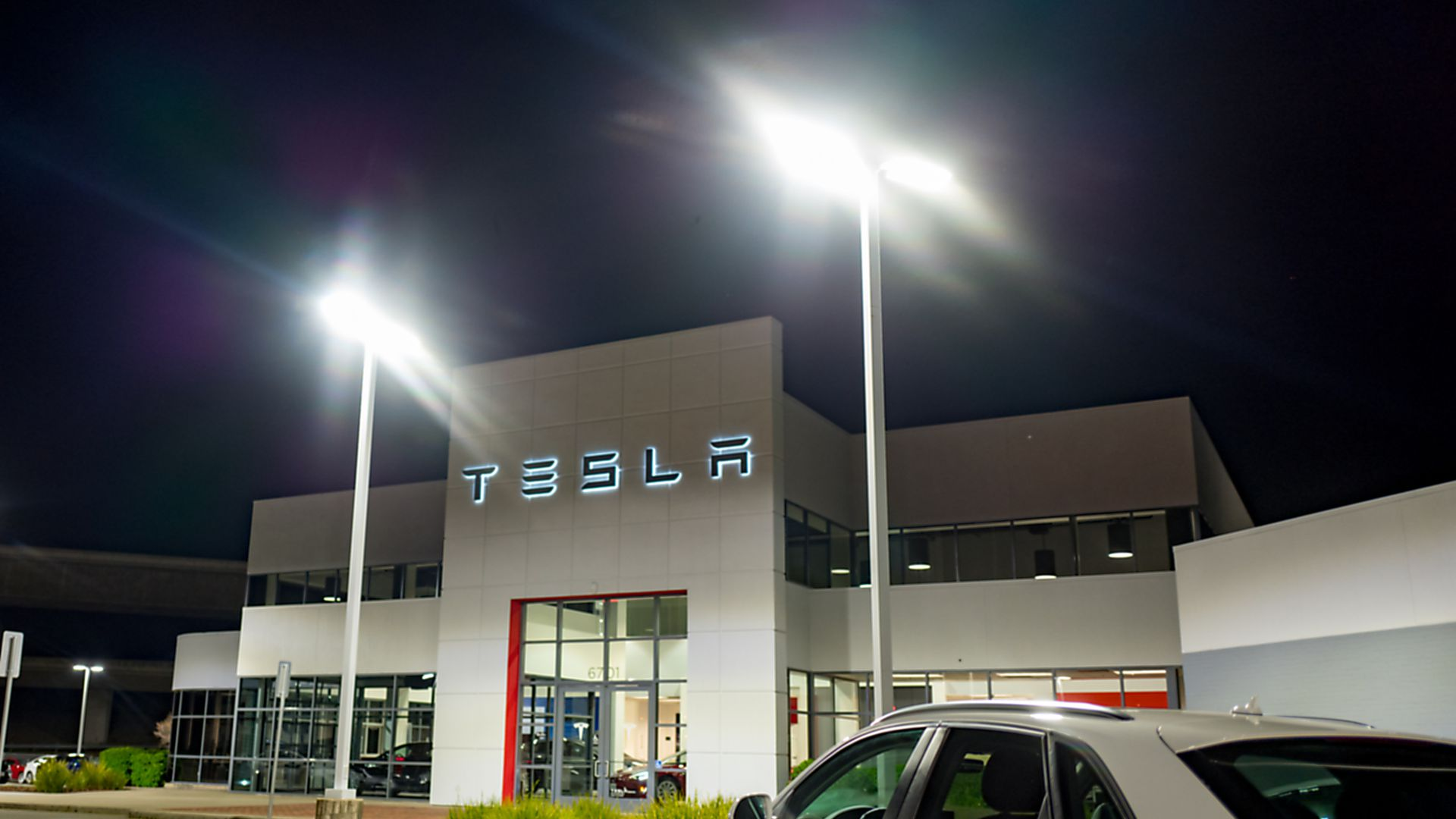 A Tesla dealership