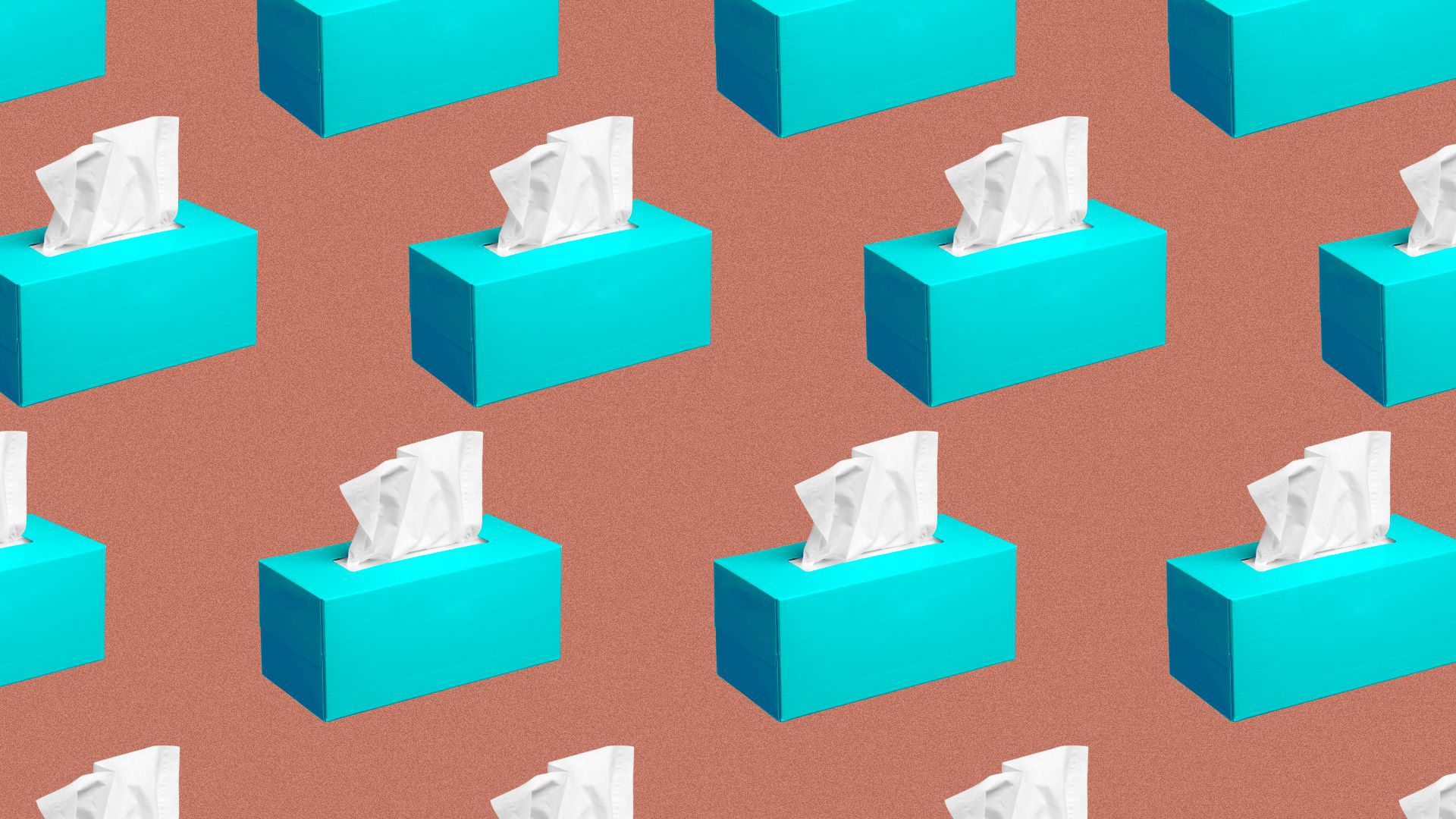 Illustration of a pattern of tissue boxes.