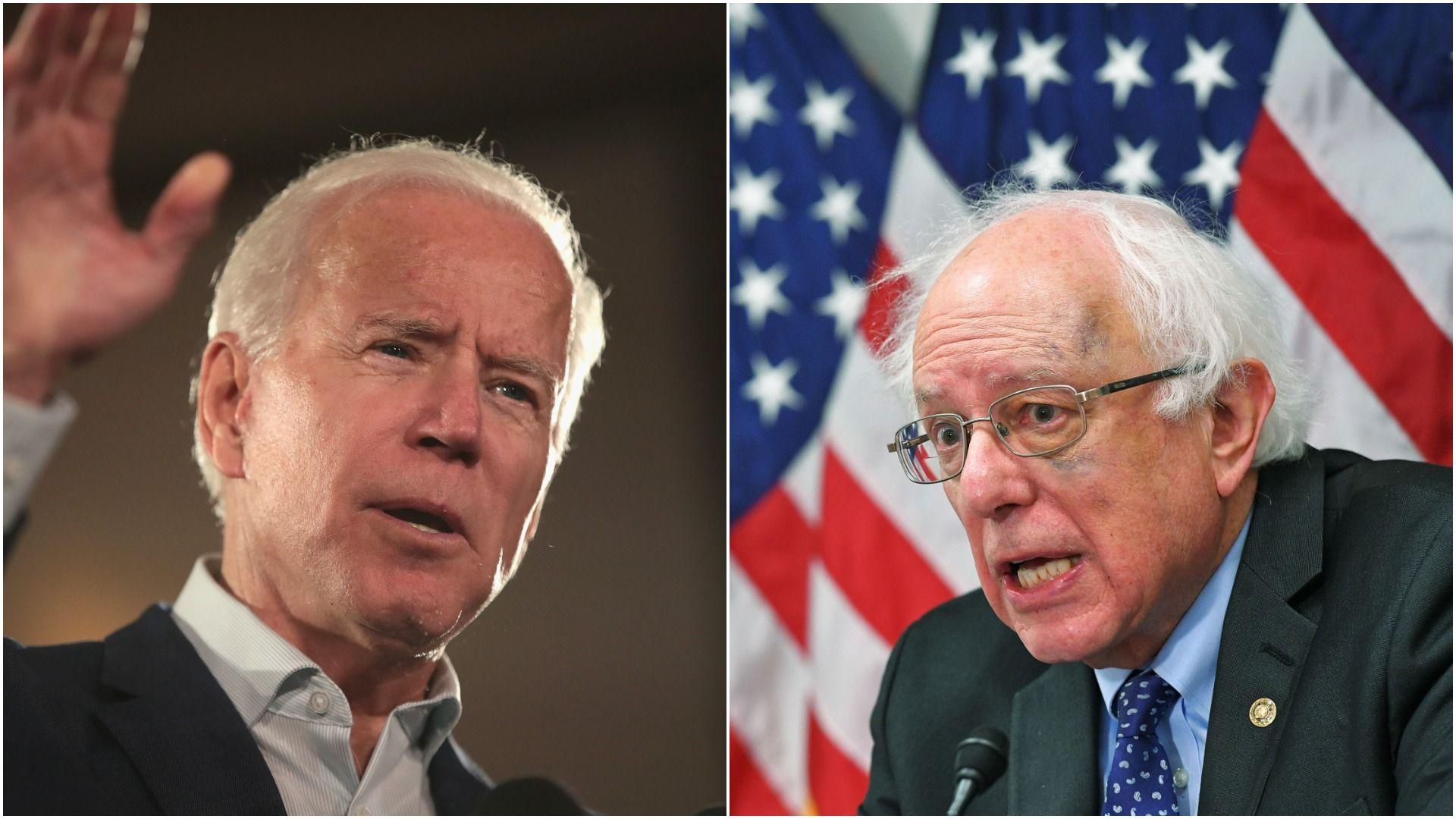 Biden and Bernie Sanders