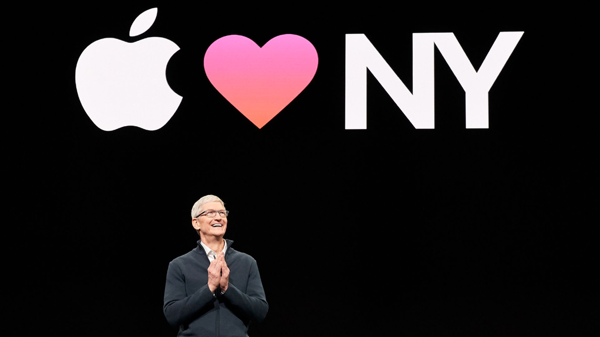 Tim Cook at Apple's Brooklyn, N.Y. event