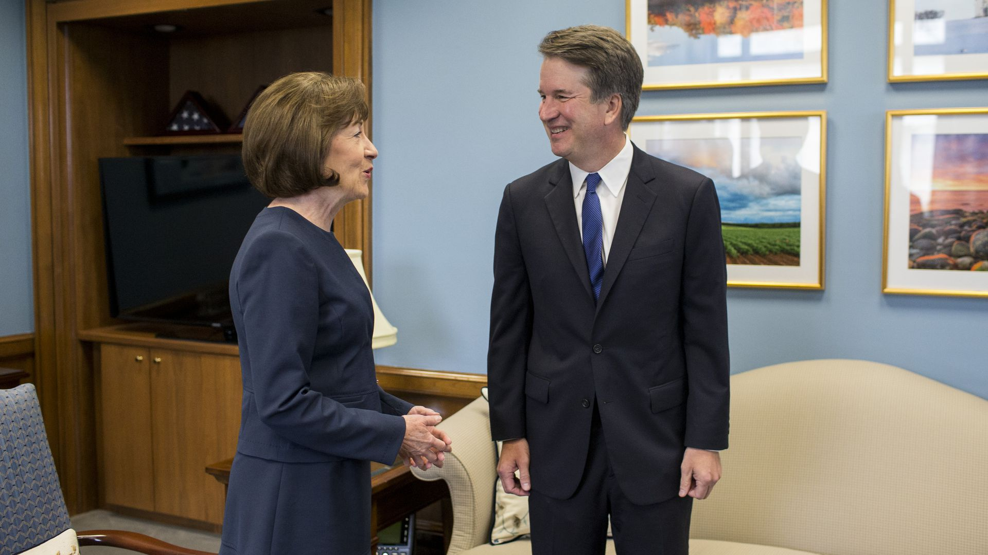 Brett Kavanuagh meeting with Susan Collins