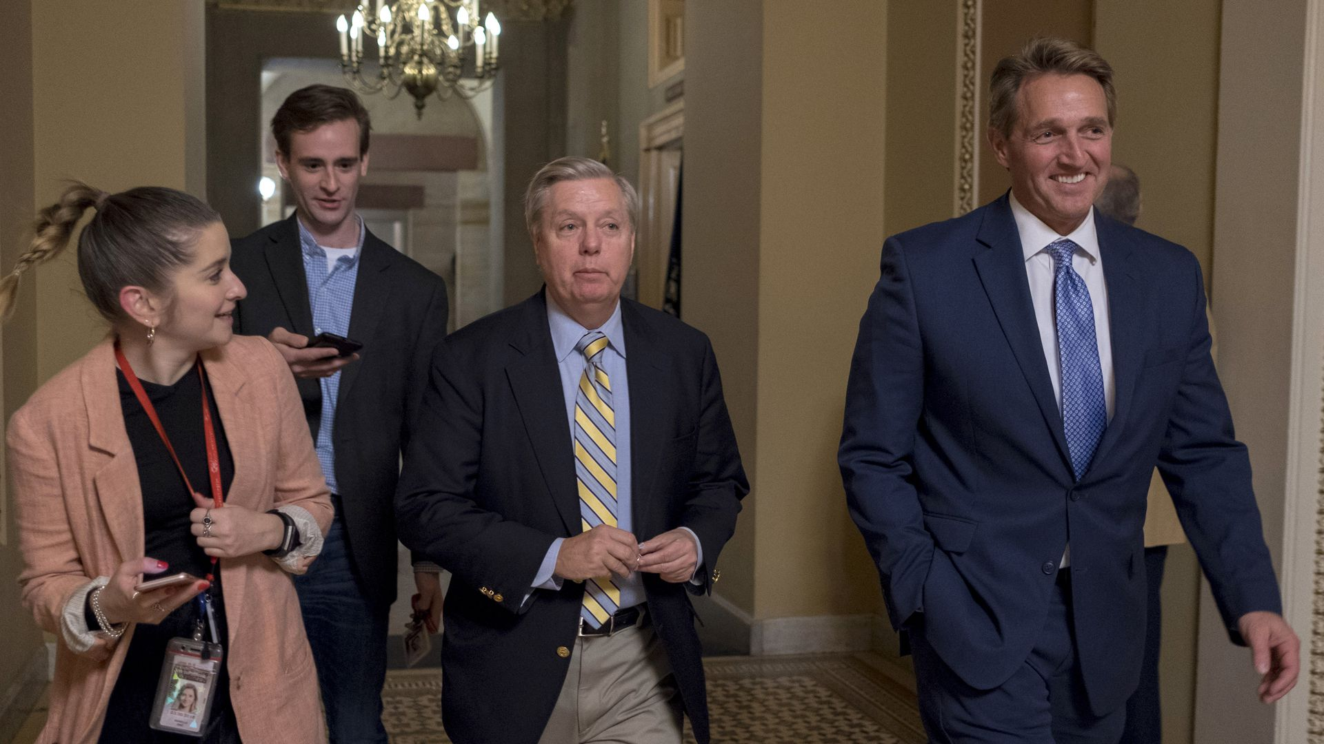 Lindsey Graham and Jeff Flake in the Capitol
