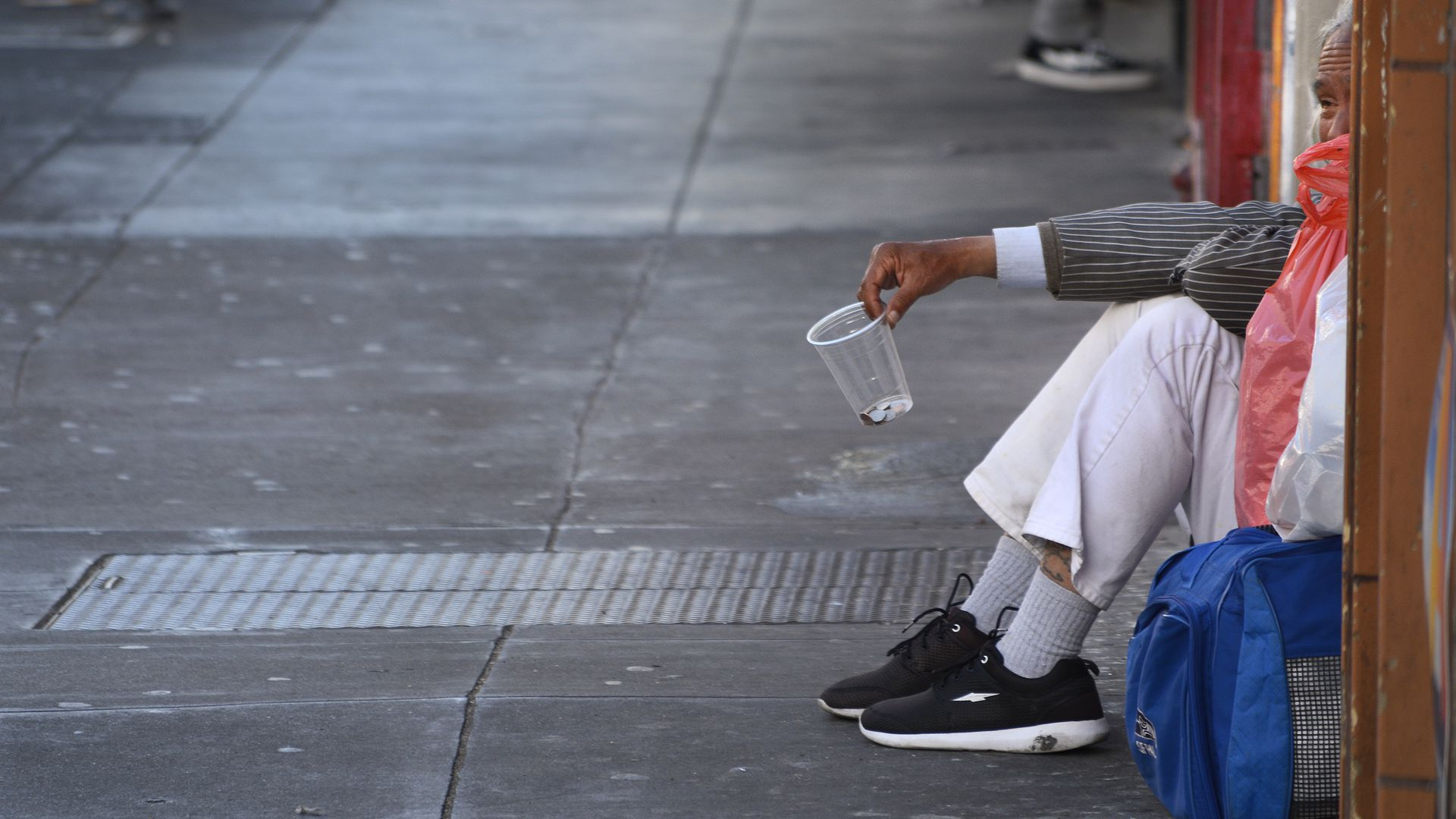 Homeless person in San Fransisco