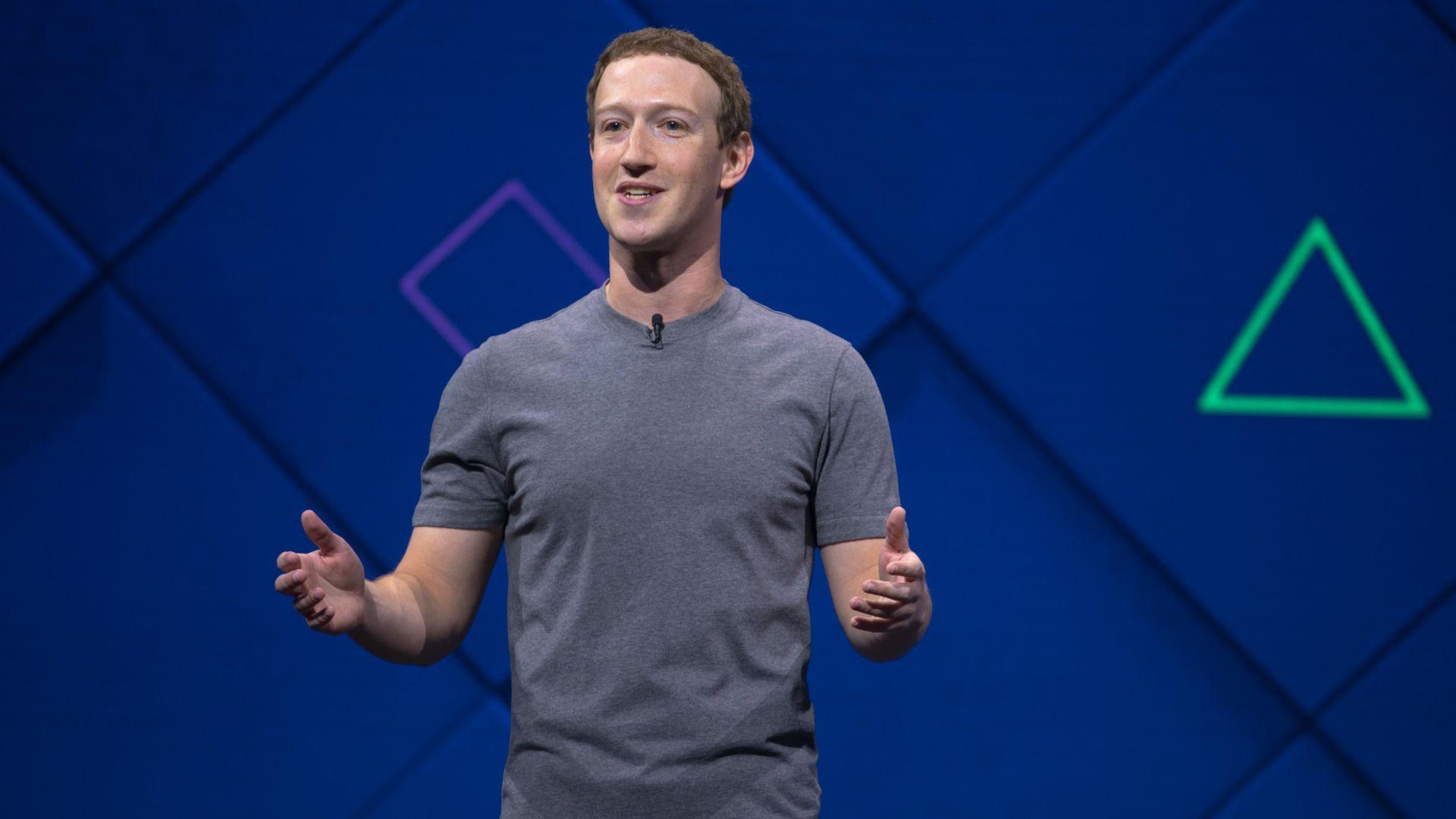 Zuckerberg at F8 in 2017
