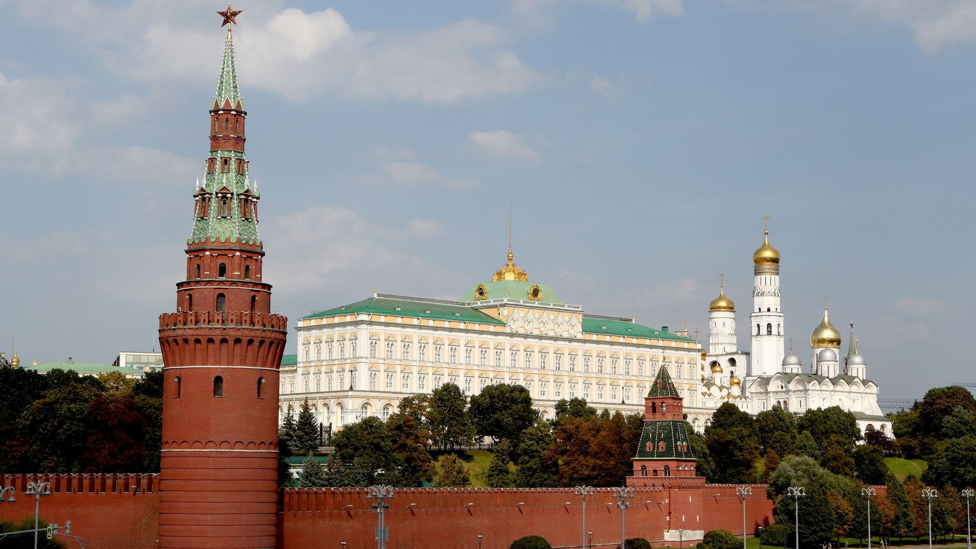 view of the Kremlin compound