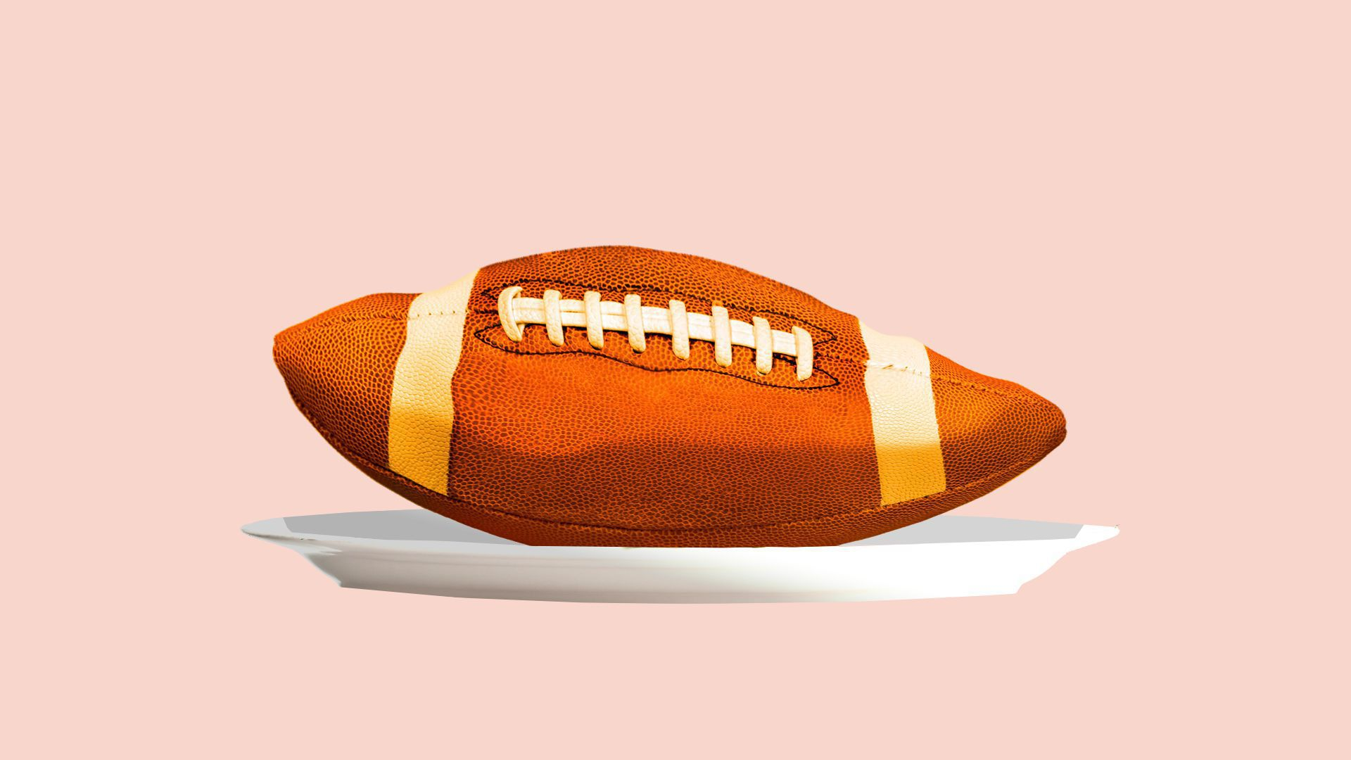 Photo illustration of a deflated football