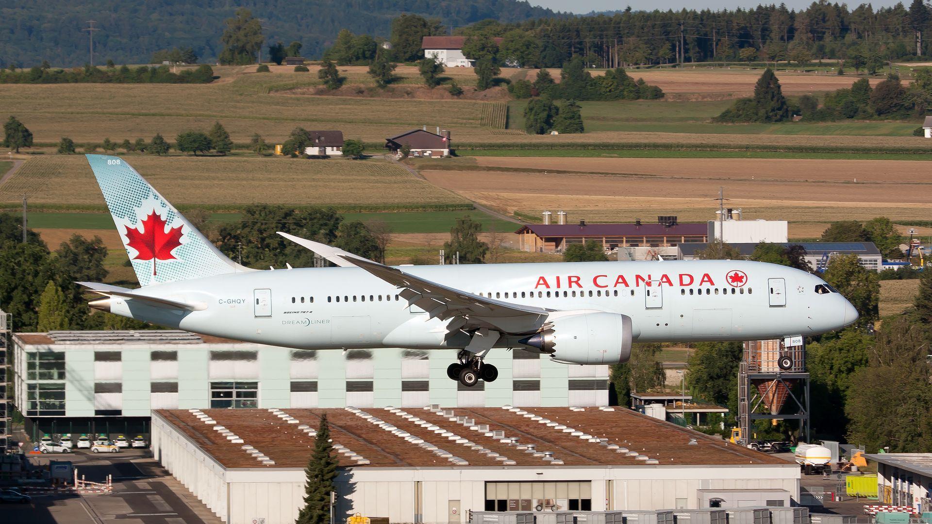 An Air Canada plane