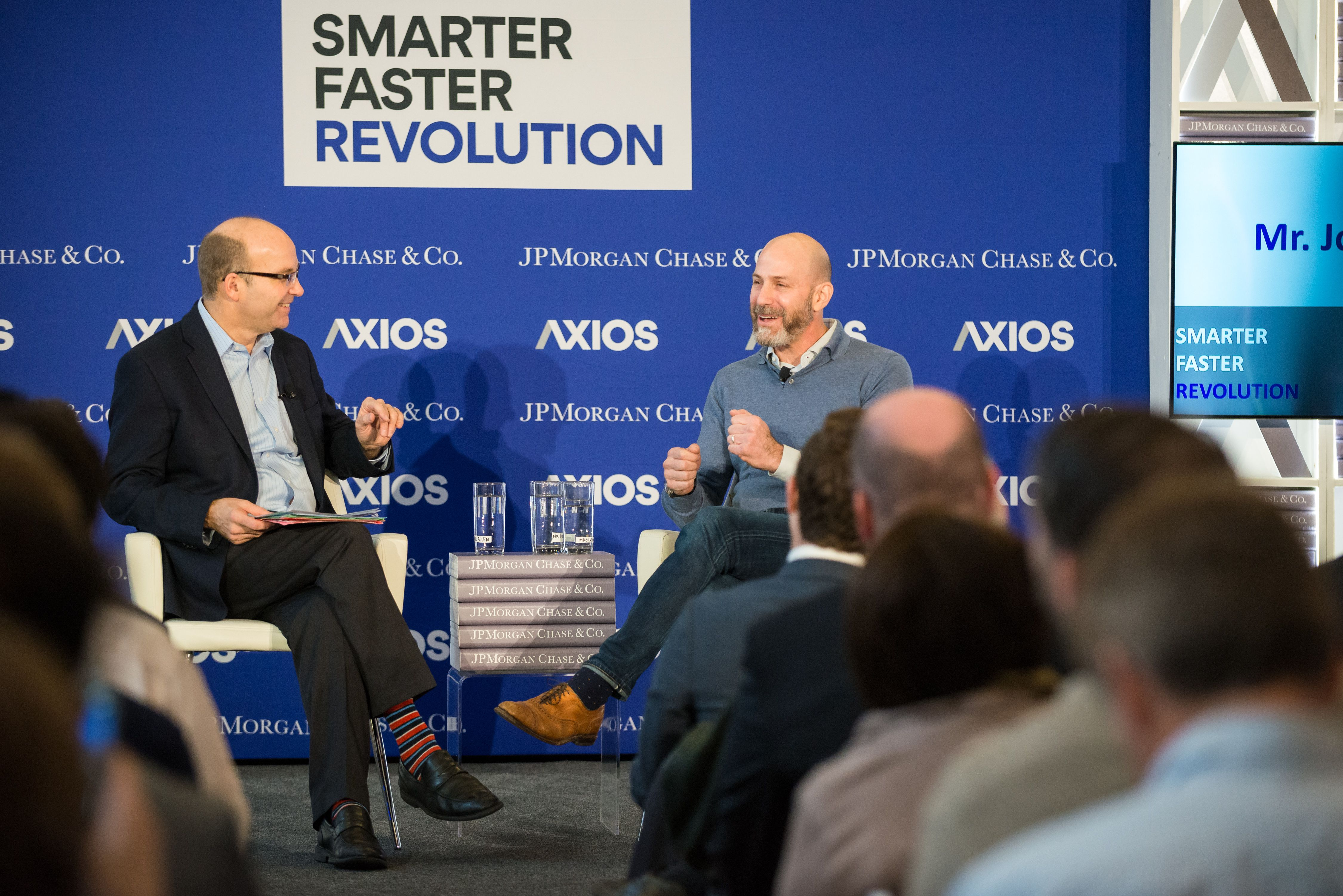 Mike Allen and Etsy CEO Josh Silverman in conversation on the Axios stage