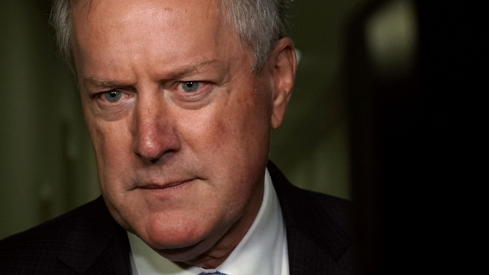 Close up of House Freedom Caucus Chairman Rep. Mark Meadows
