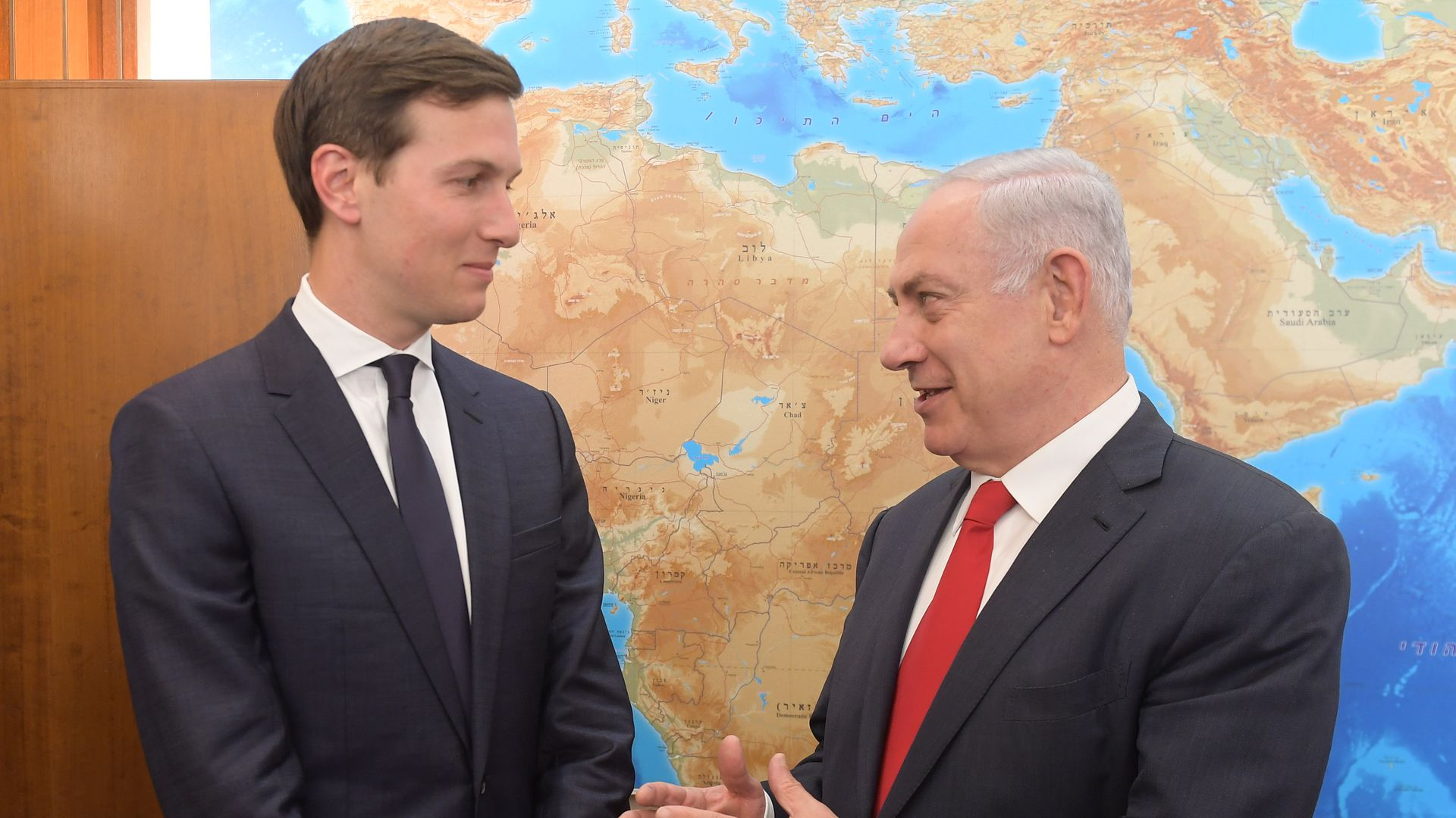 Jared Kushner with Netanyahu