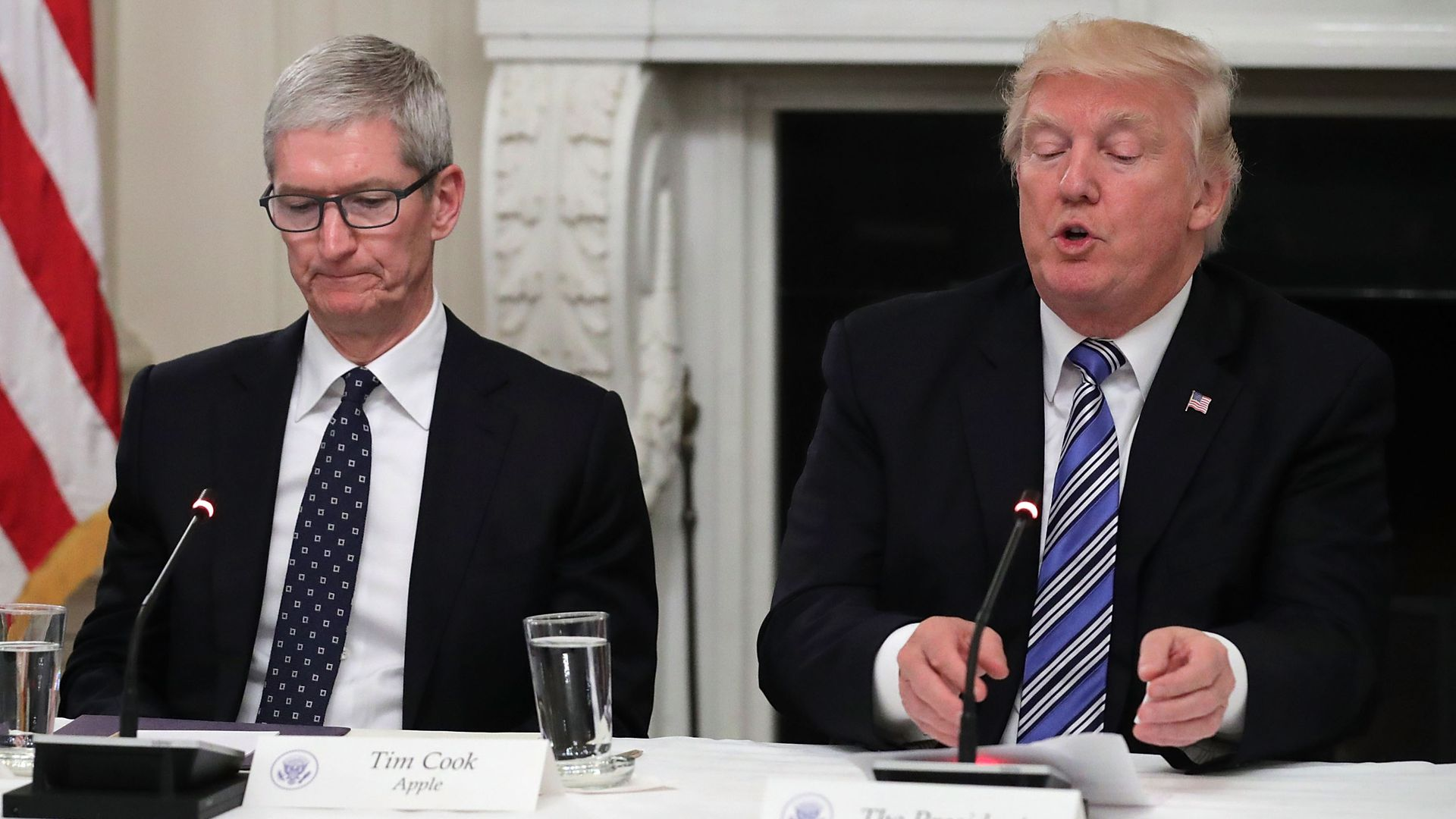 Apple's Tim Cook meets with Trump as additional China tariffs loom