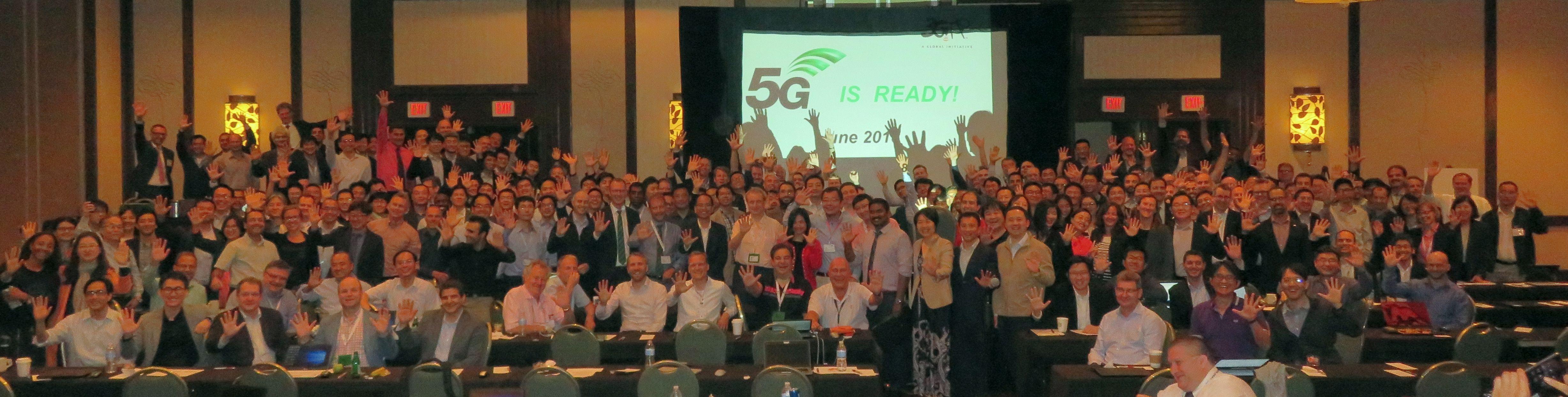 Group photo from last week's 5G meeting in La Jolla, Calif.