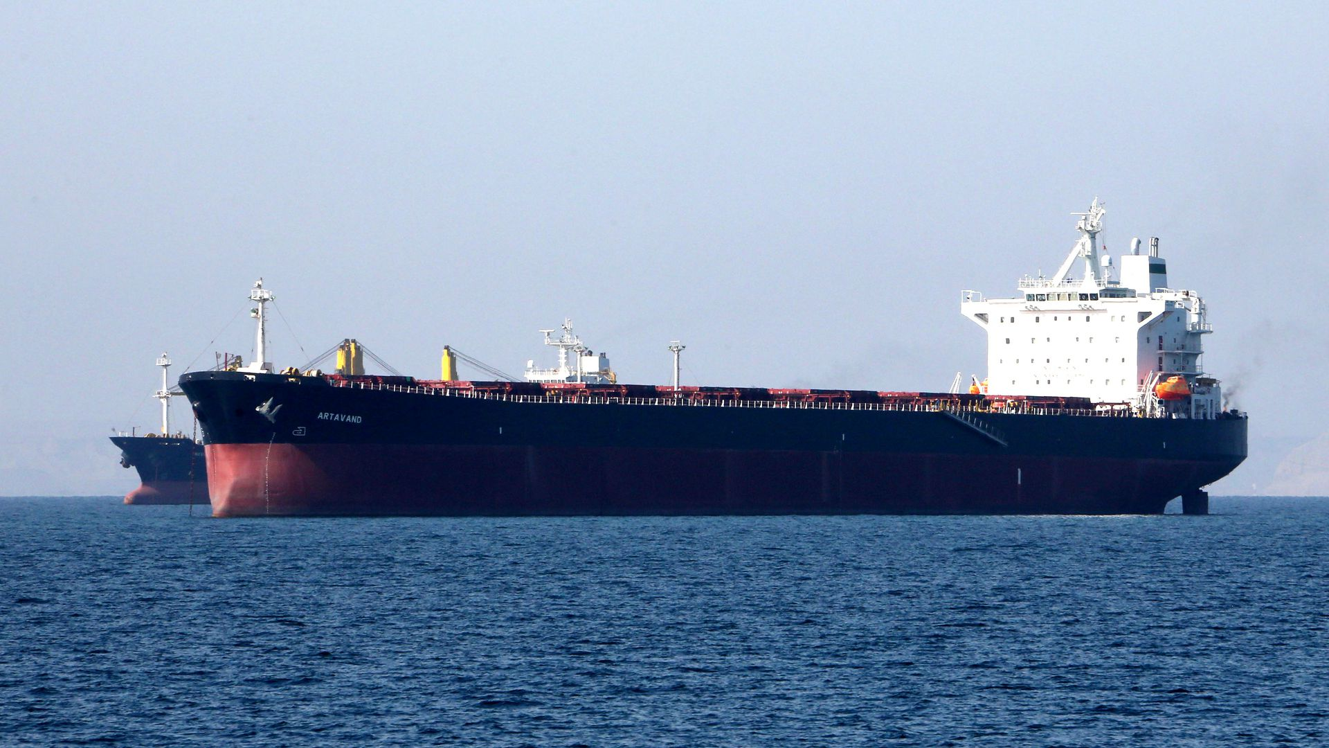 Photo of an oil tanker off the coast of Iran