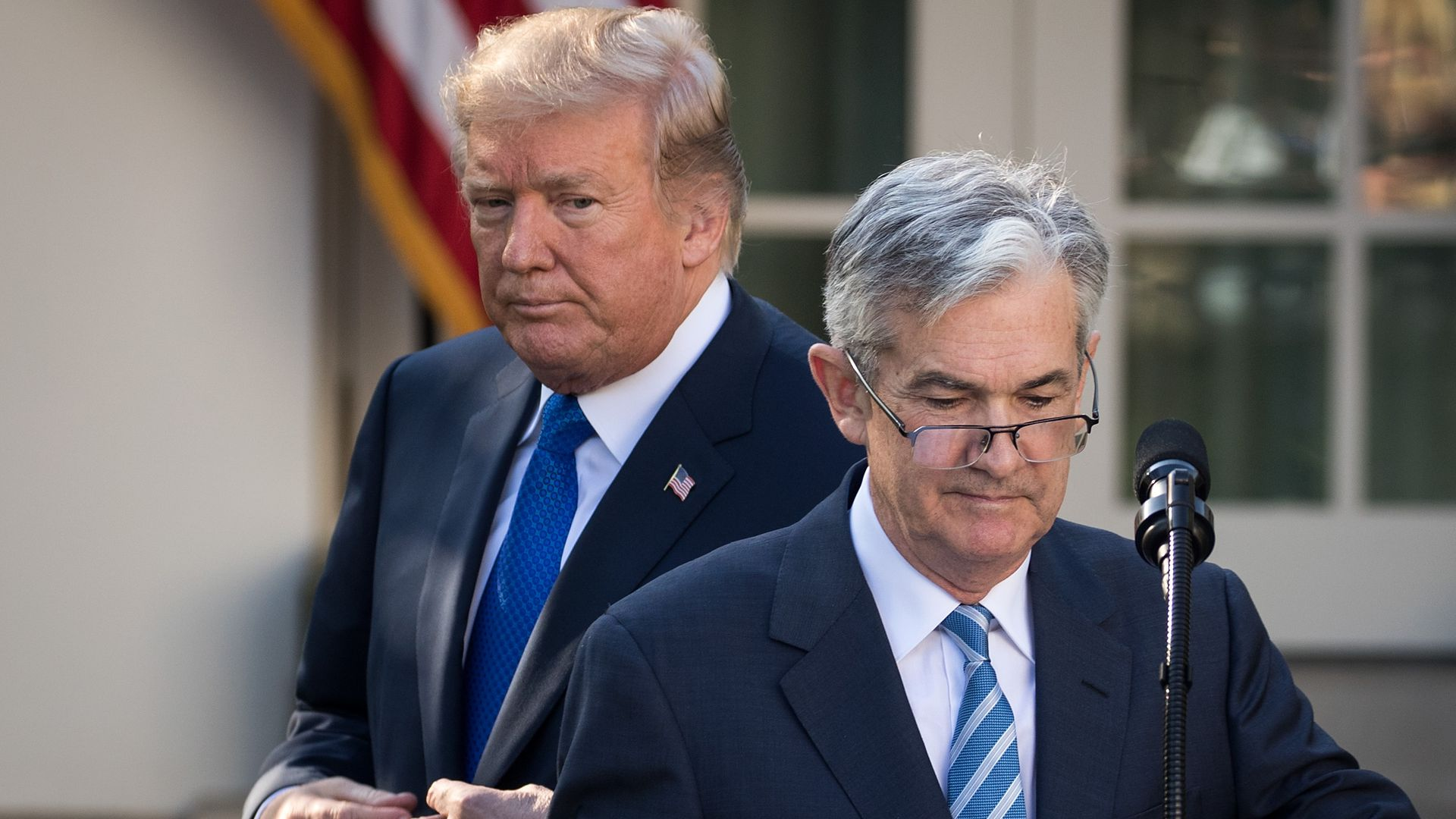 President Donald Trump and Federal Reserve Chair Jerome Powell.