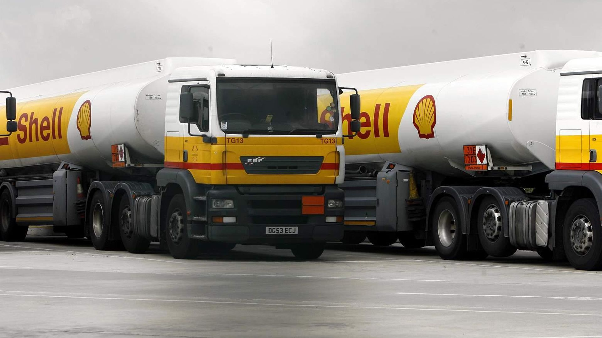Shell tanker trucks