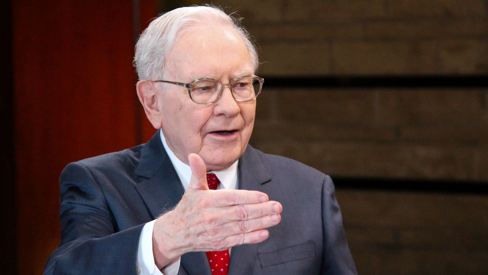 Warren buffett in a suit
