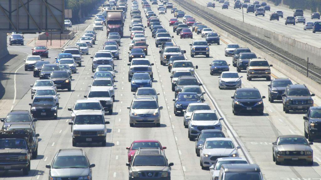 Photo of LA freeway full of traffic