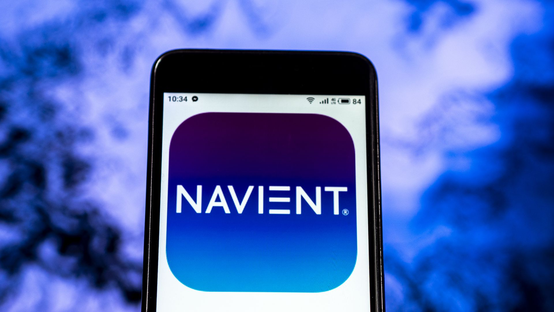 In this image, the Navient logo is displayed on a photo.