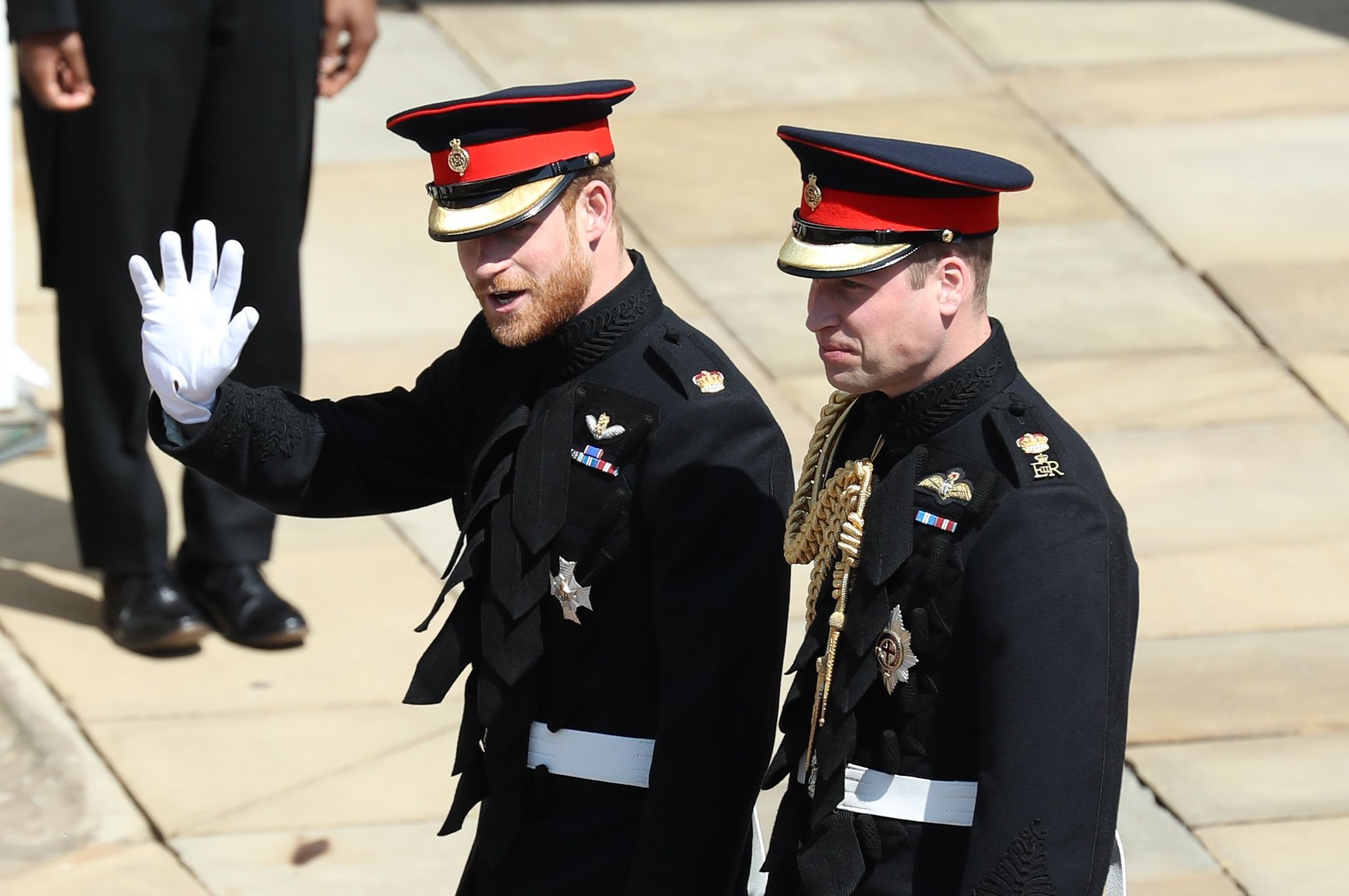 Prince Harry and Prince William, Duke of Cambridge.