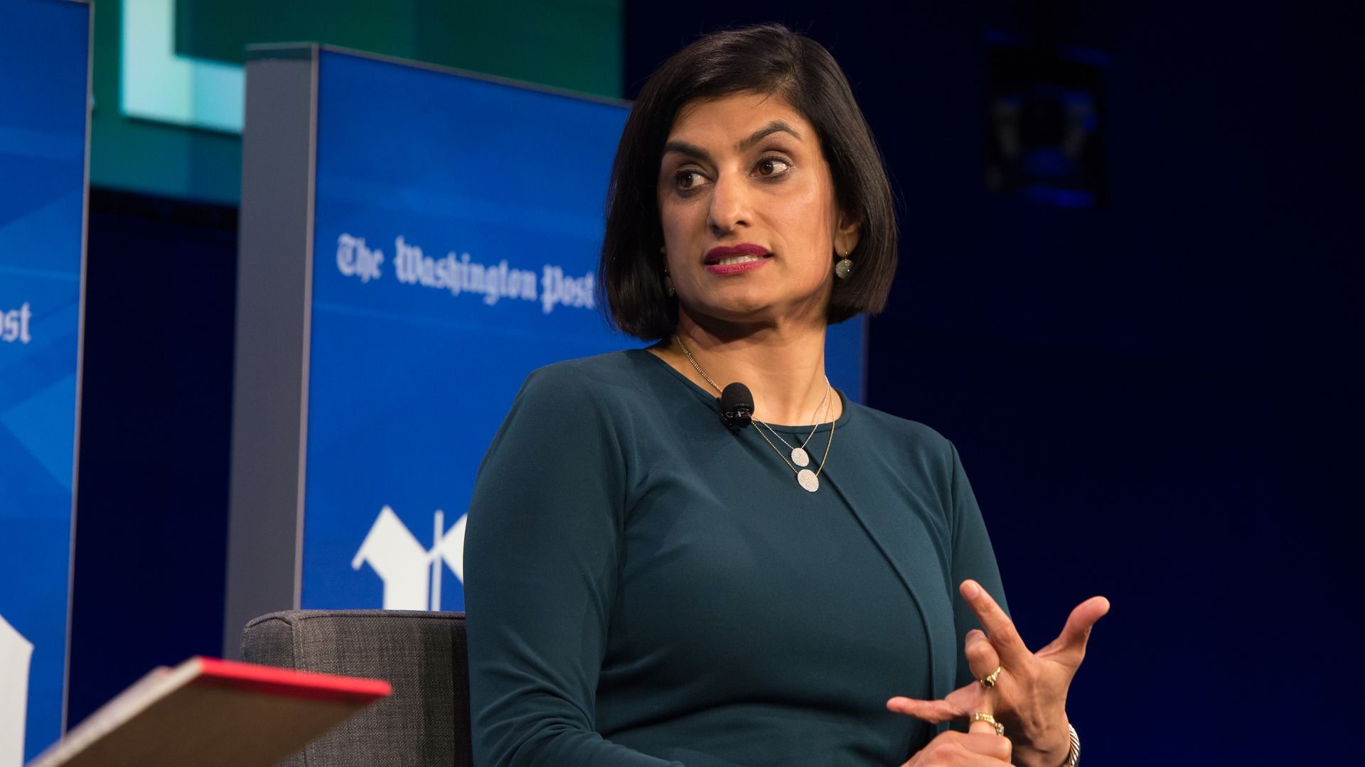 Seema Verma, Administrator of the Centers for Medicare and Medicaid Services, interviewed on stage