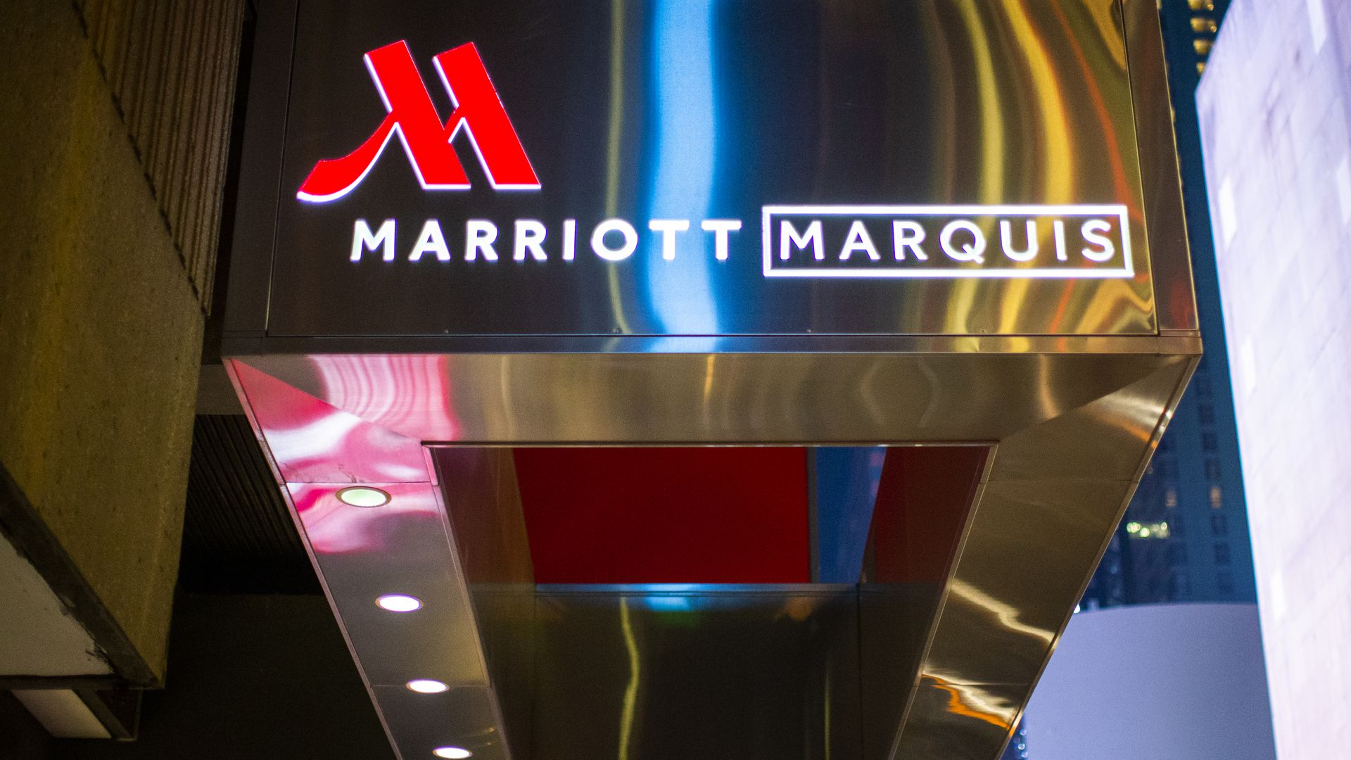 Marriott marquis from Times Square