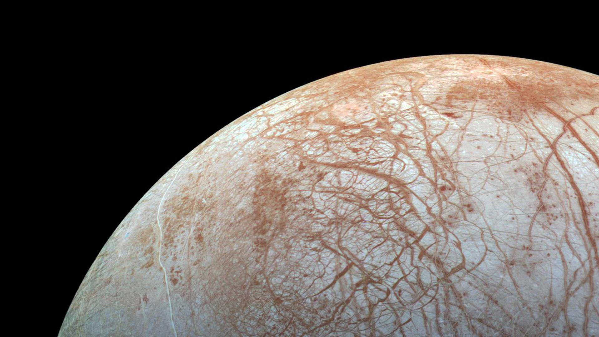 Jupiter's icy moon Europa.