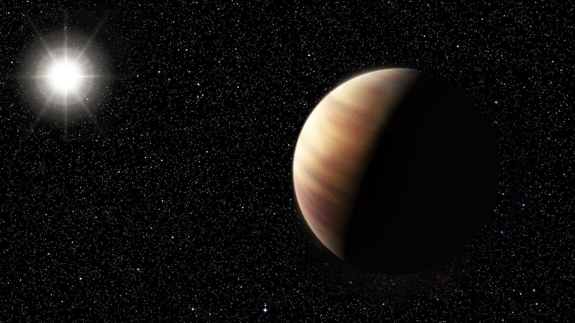 An artist's impression of a Jupiter twin orbiting a distant star.