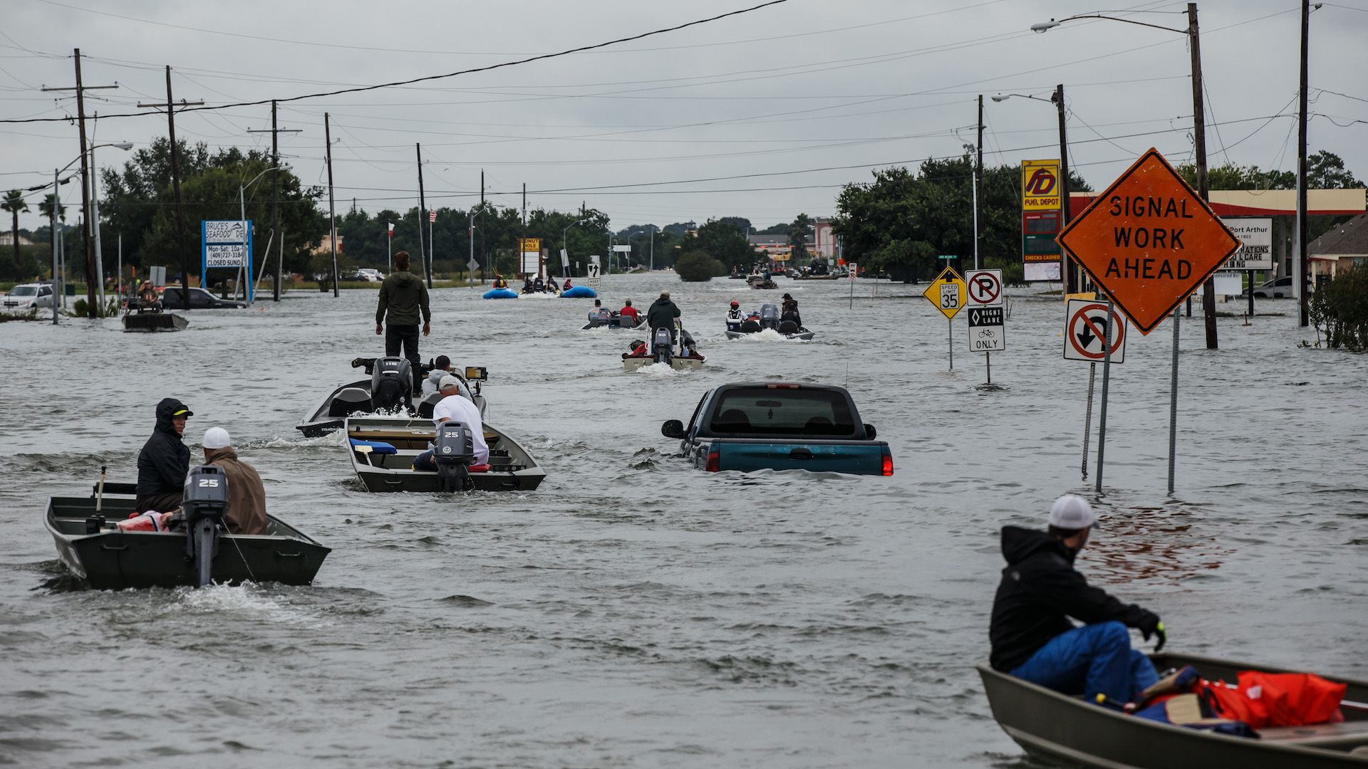 Photo of Texas flooding from Hurricane Harvey
