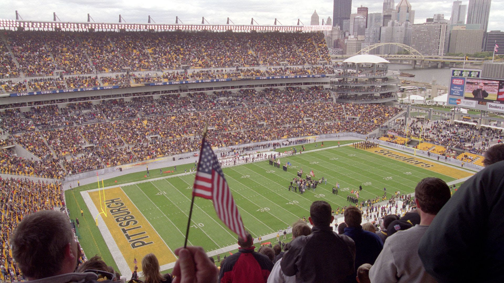 The Steelers' first-ever game at Heinz Field on Oct. 7, 2001