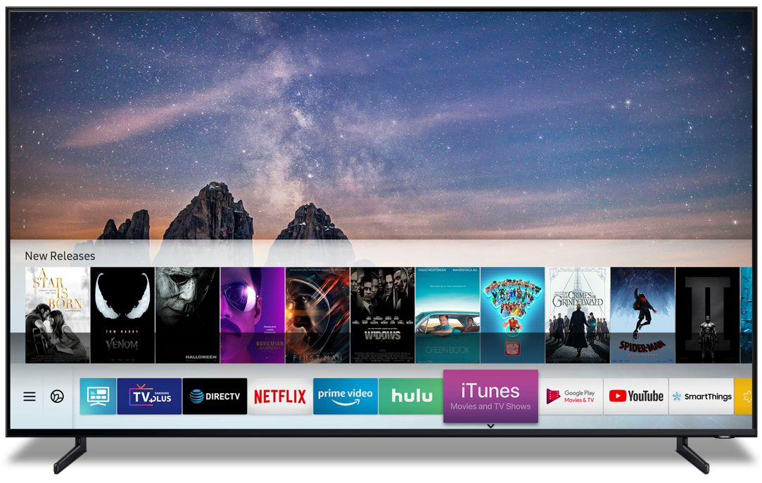 Samsung's 2019 TVs can play videos purchased from Apple's iTunes