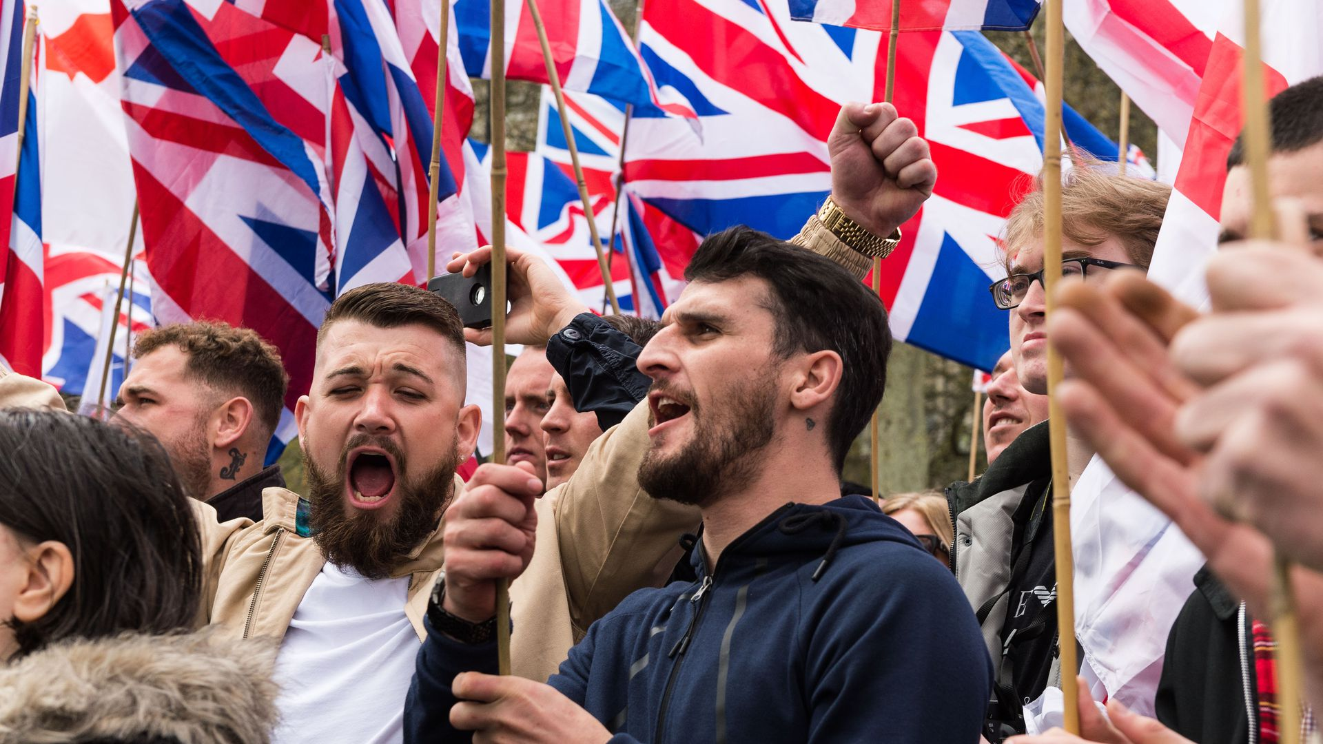 Members of Britain First extremist group