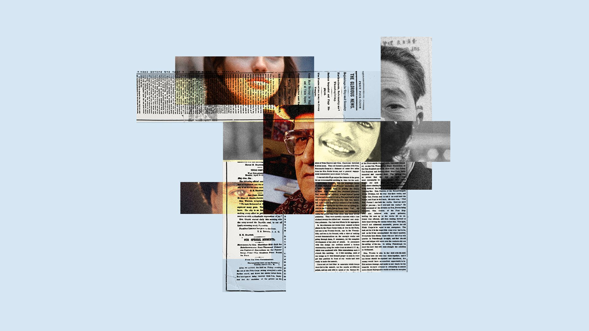 Collage about media and race
