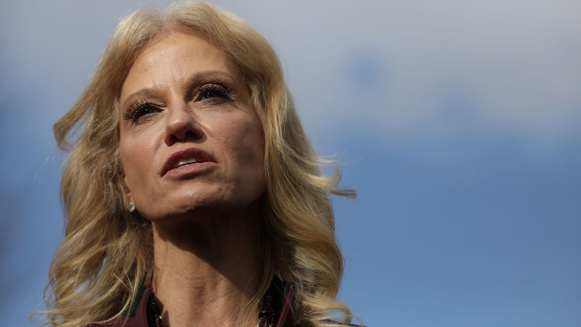 """Kellyanne Conway defends Trump after he says she has the """"husband from hell"""""""