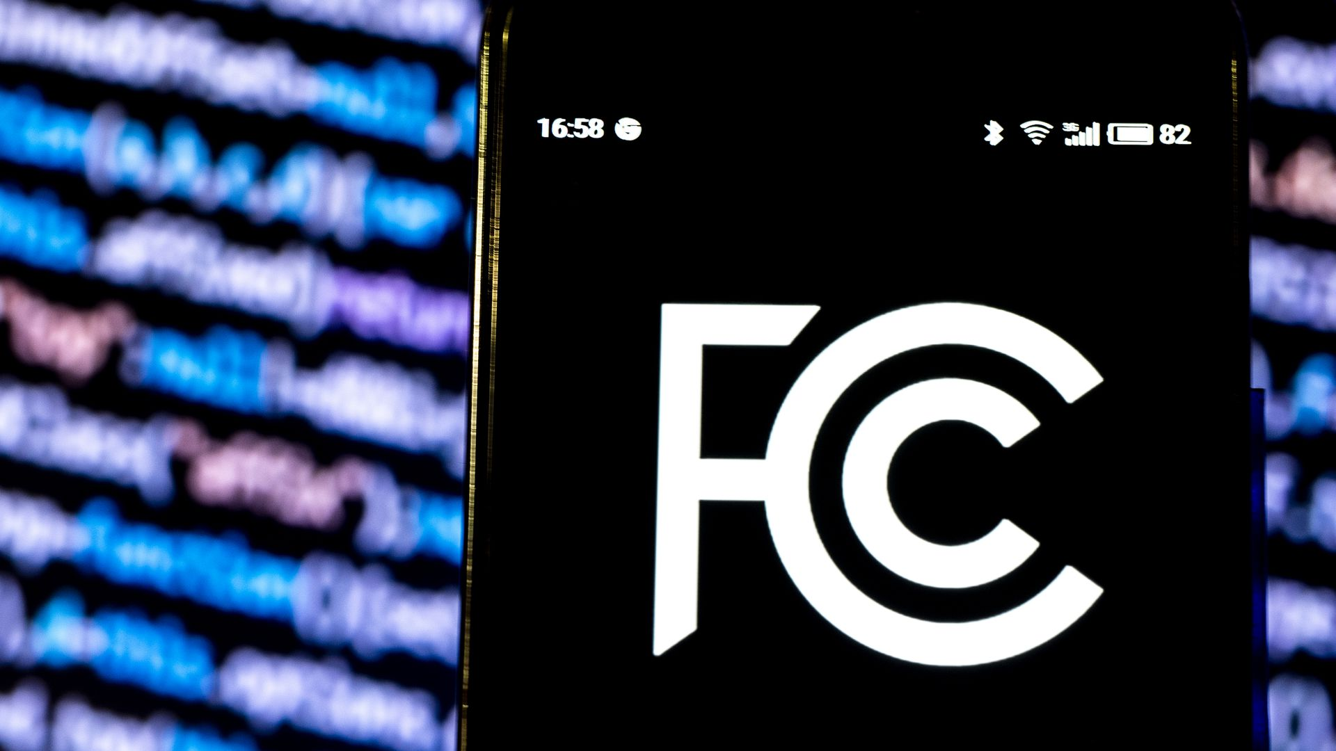 FCC logo displayed on smartphone