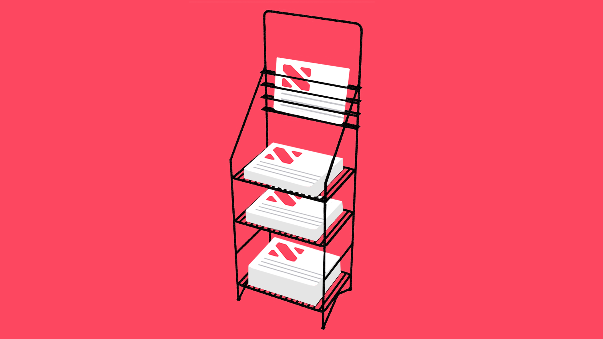 illustration of the apple news stand app