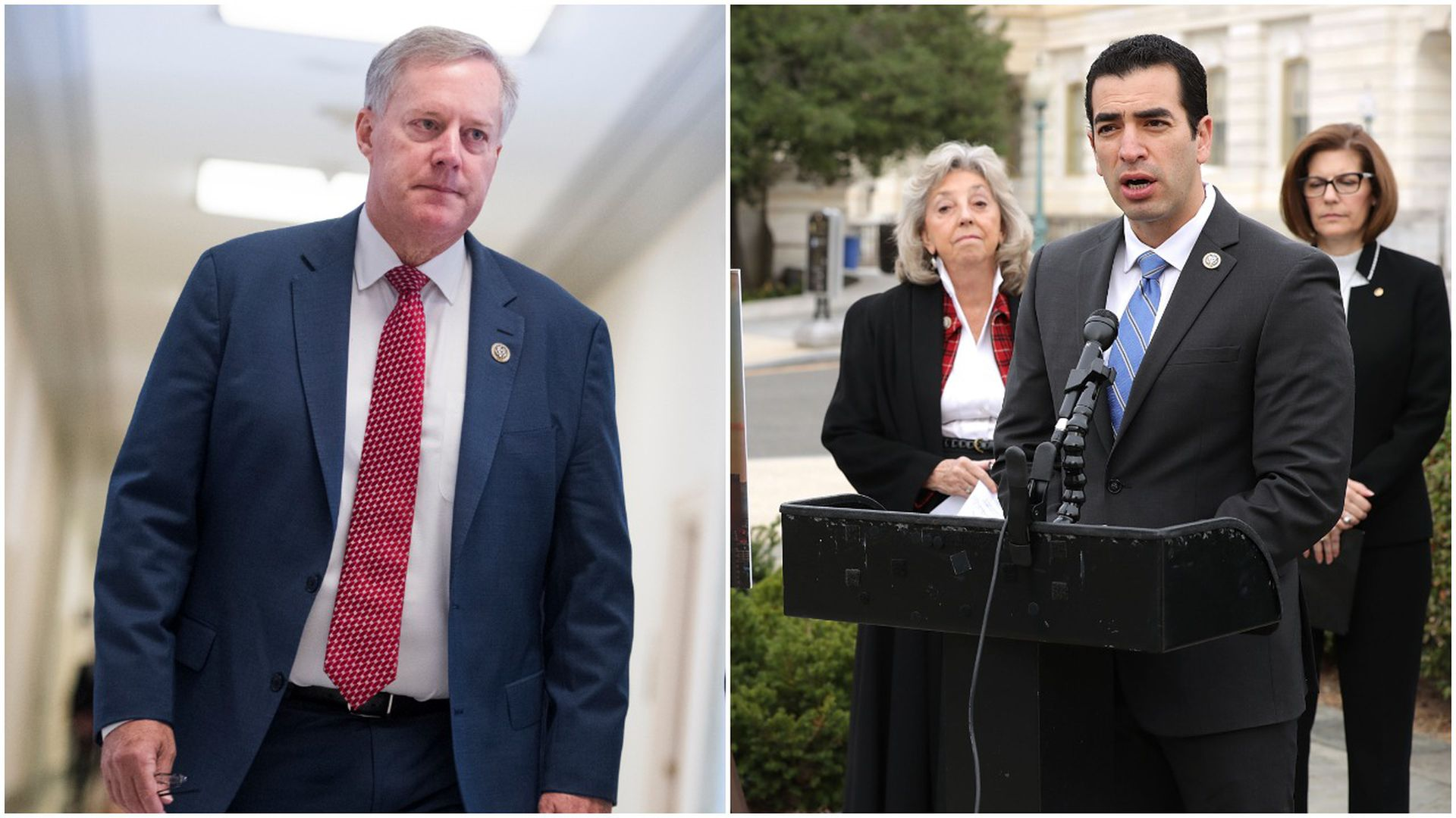 A collage of Rep. Mark Meadows and Rep. Ruben Kihuen