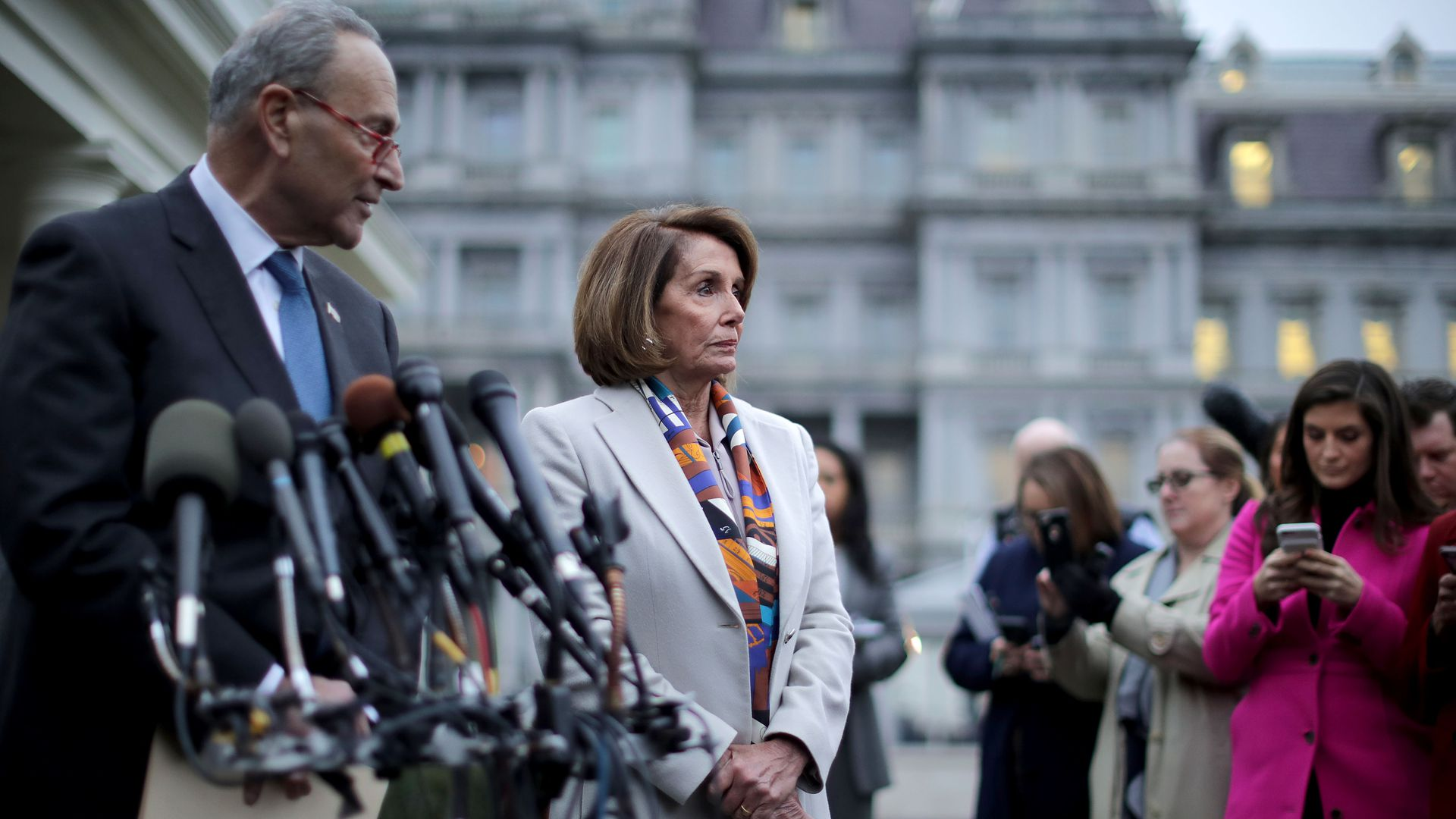 Senate Minority Leader Charles Schumer and House Speaker Nancy Pelosi.