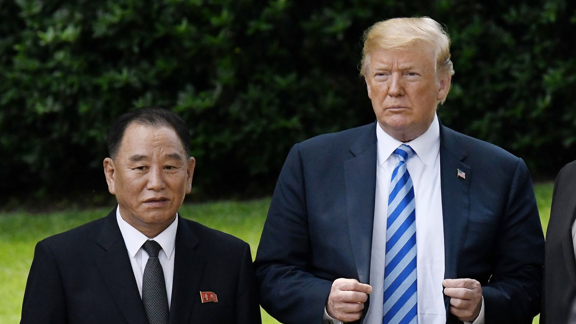 Trump and Kim Yong-chol.