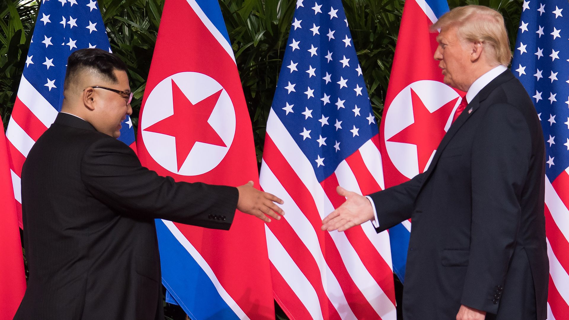 North Korea's leader Kim Jong Un and President Trump