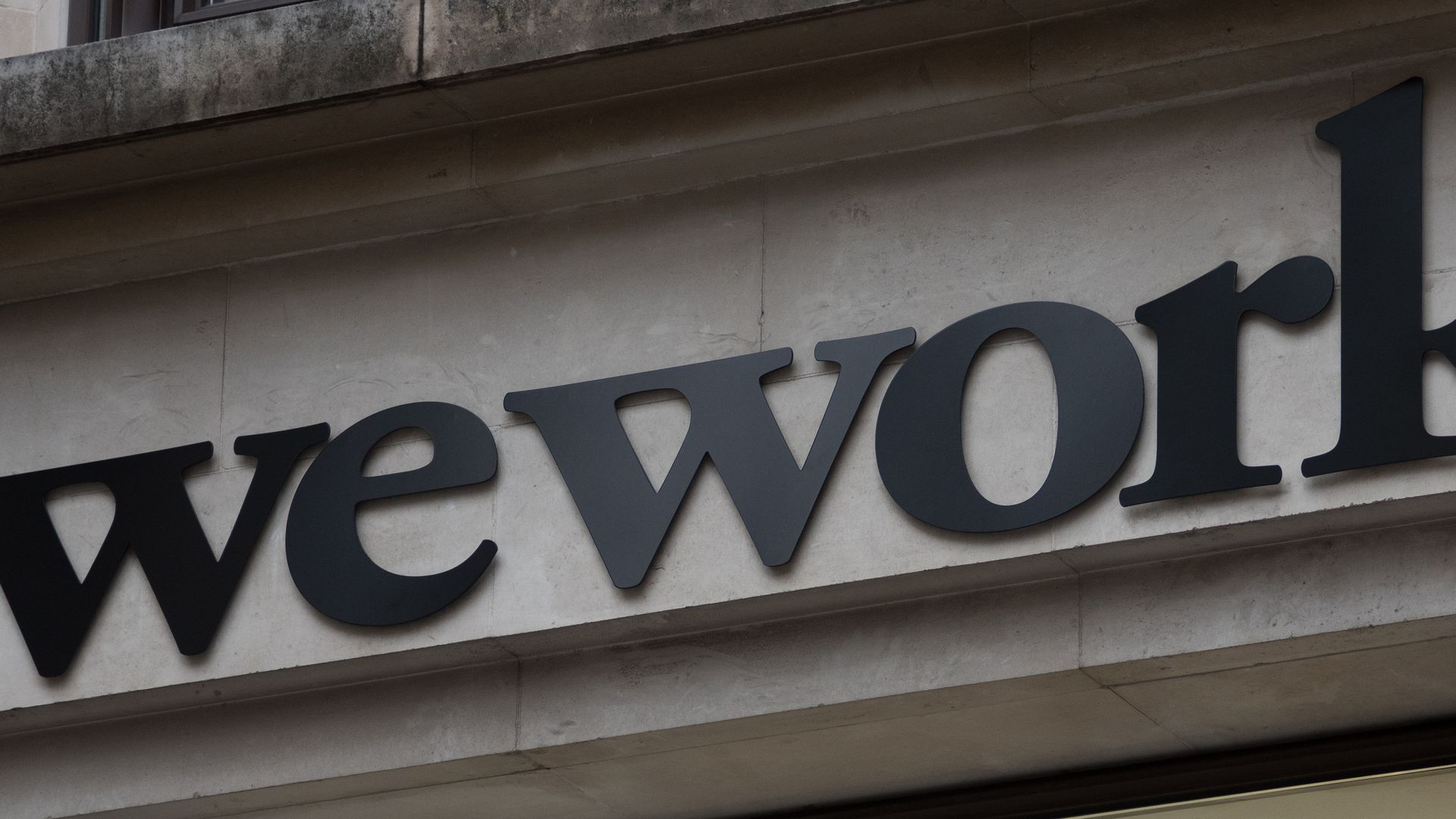 The WeWork logo.