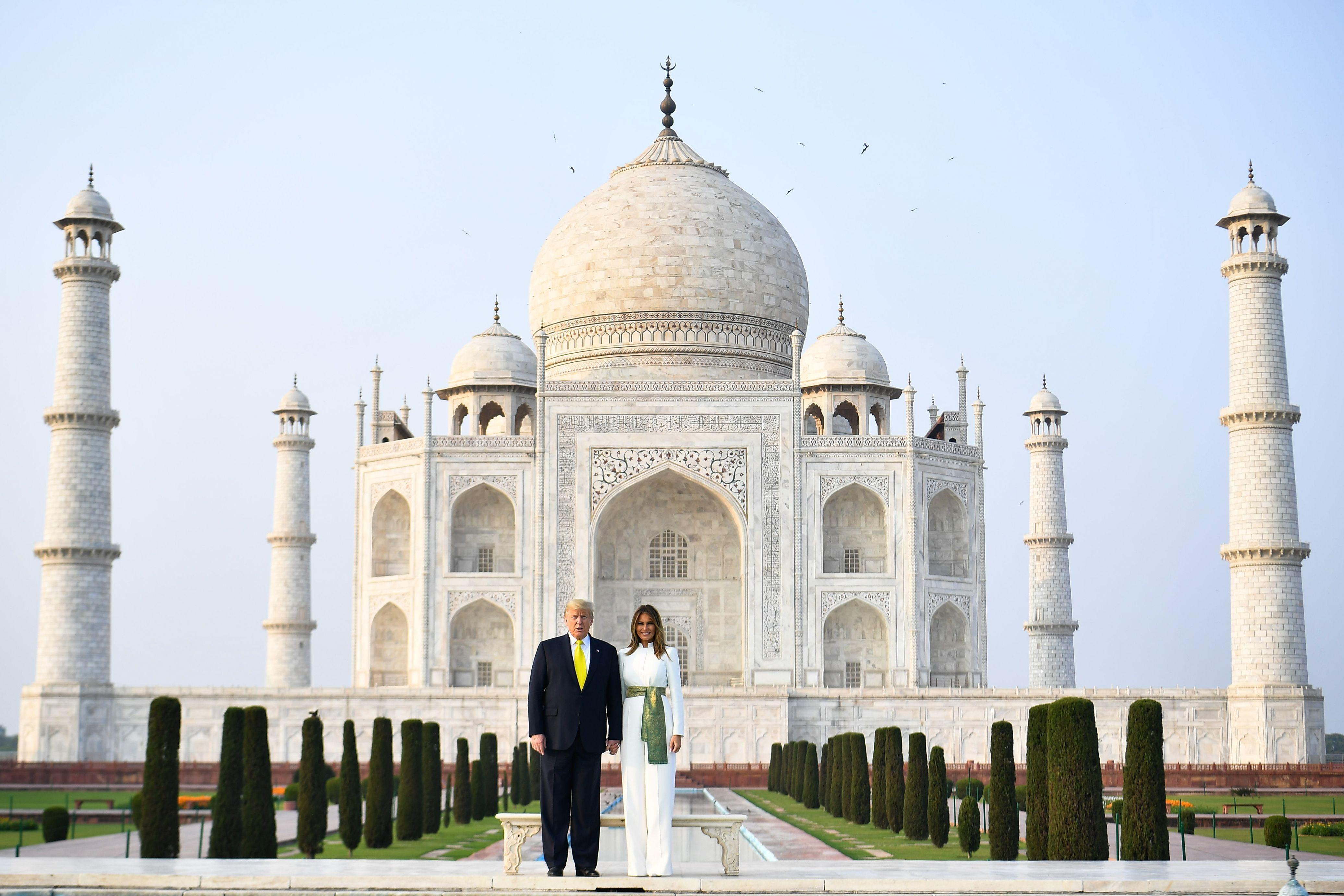 In photos: Trump visits Taj Mahal after massive rally in India - Axios